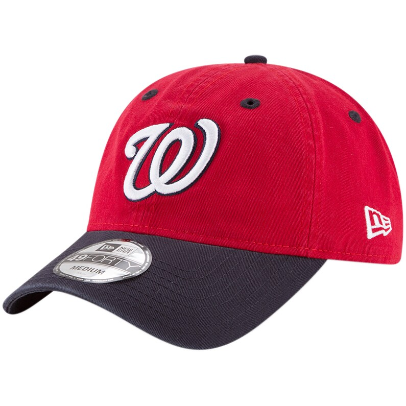 Washington Nationals New Era Core Fit Replica 49FORTY Fitted Hat - Red/Navy