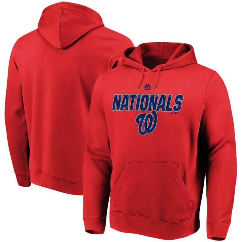 Washington Nationals Majestic High Energy Pullover Hoodie - Red
