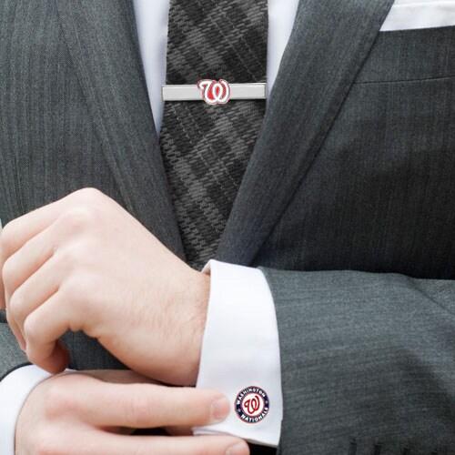 Washington Nationals Tie Bar & Cufflinks Set