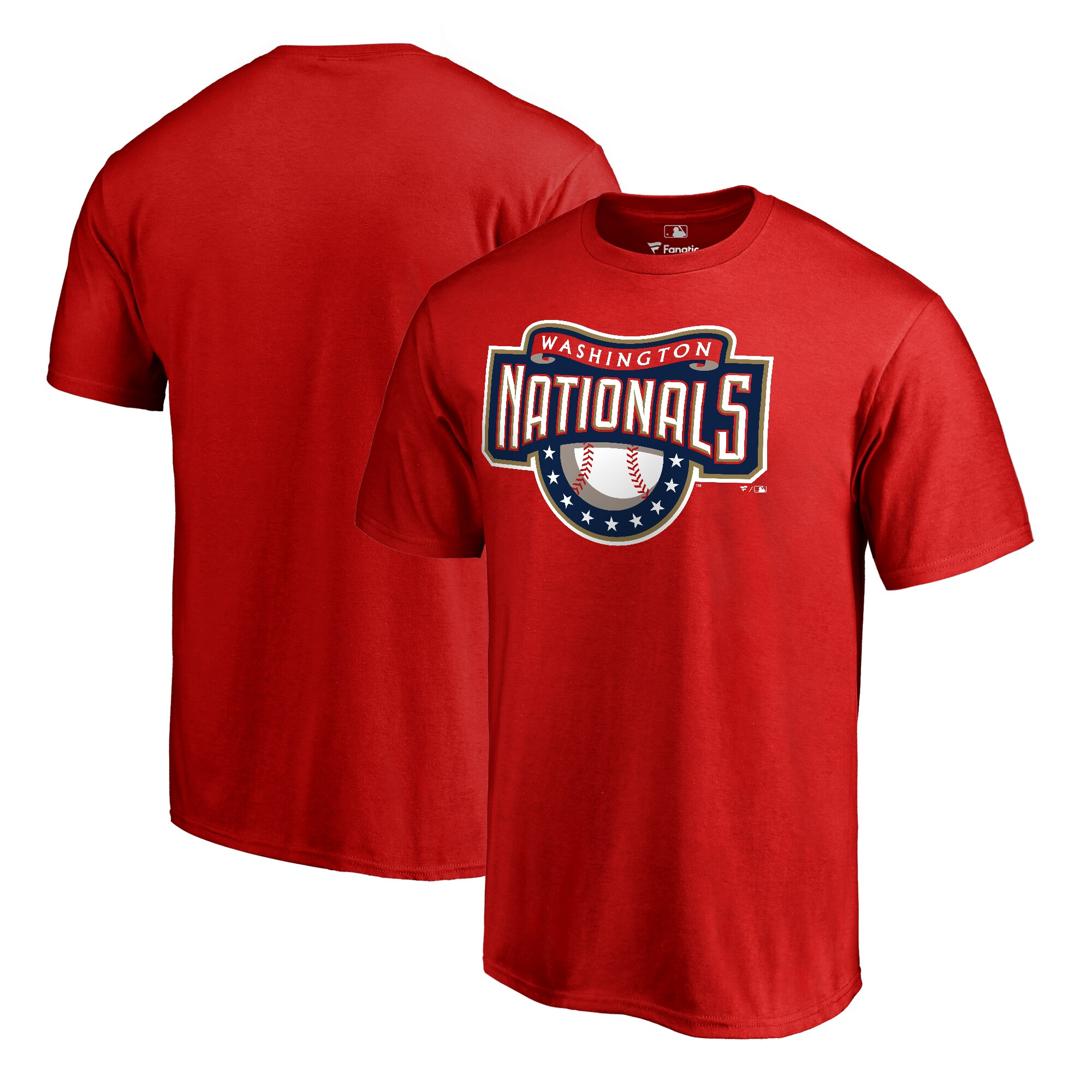 Washington Nationals Fanatics Branded Big & Tall Cooperstown Collection Huntington T-Shirt - Red