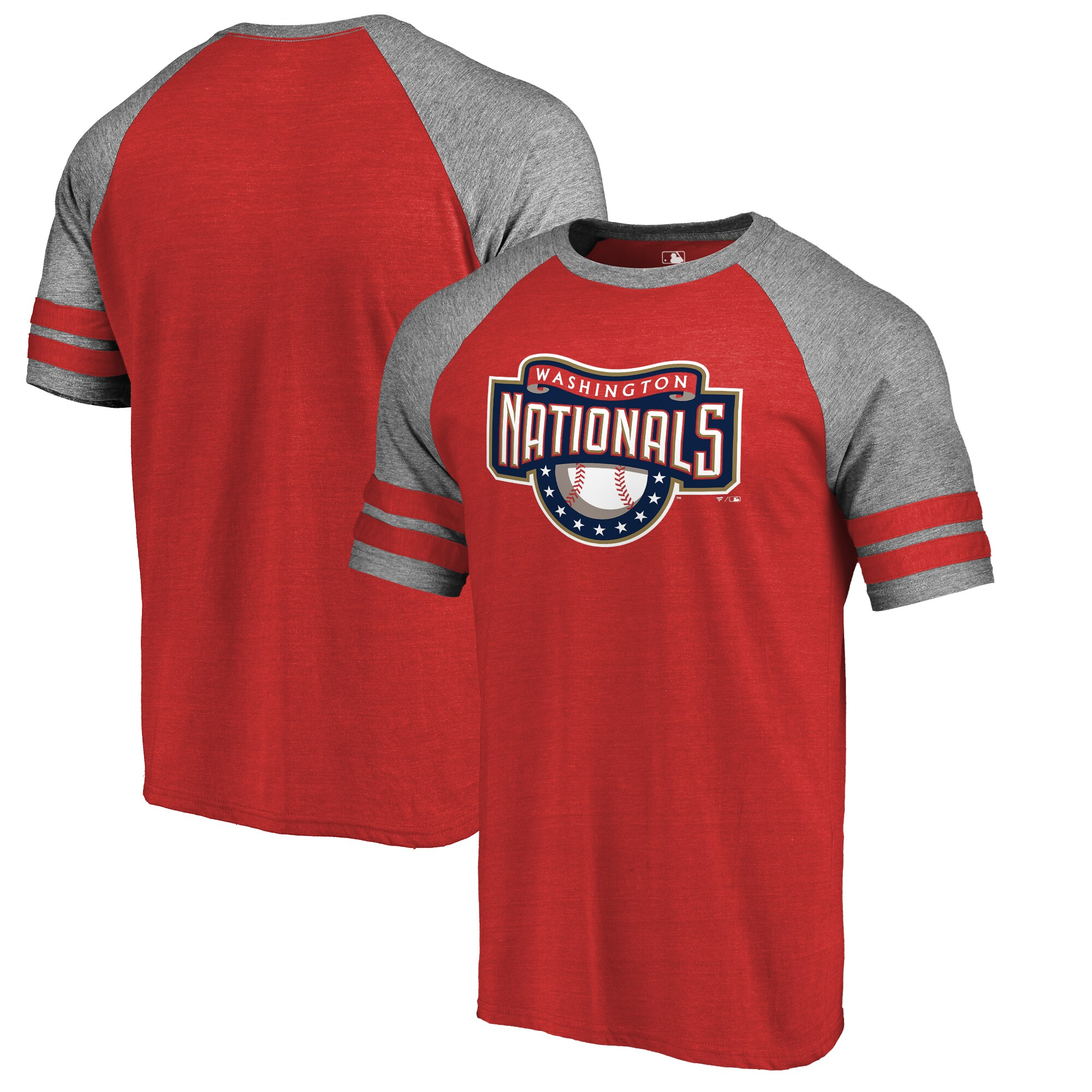Washington Nationals Fanatics Branded Huntington Cooperstown Collection Tri-Blend T-Shirt - Red