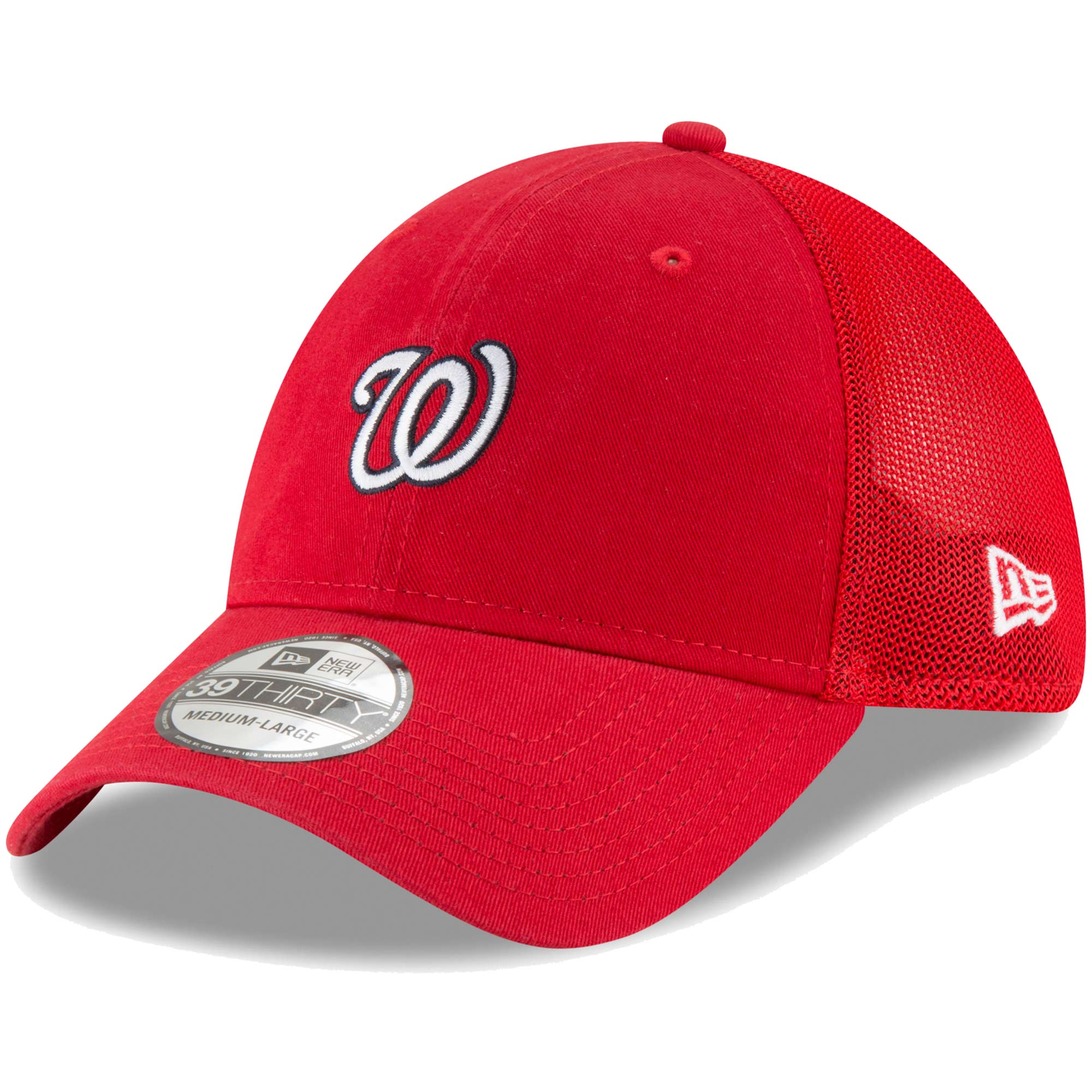 Washington Nationals New Era Team Precision 39THIRTY Flex Hat - Red