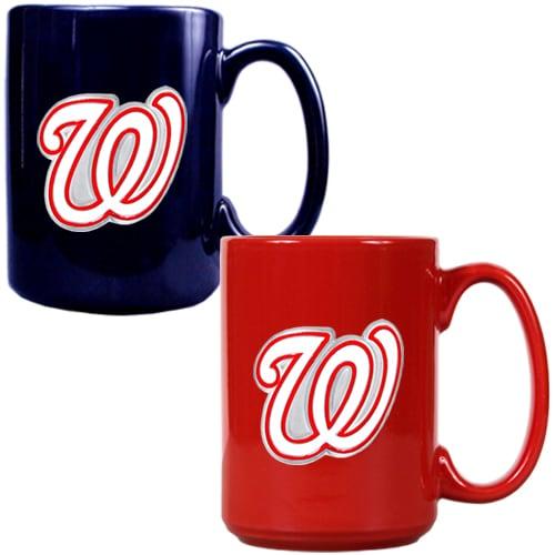 Washington Nationals 15oz. Coffee Mug Set - Navy/Red