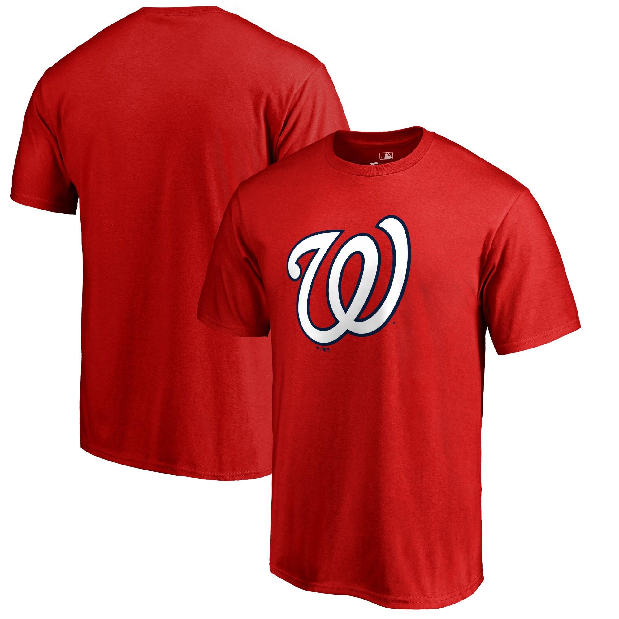 Washington Nationals Big & Tall Primary Team Logo T-Shirt - Red