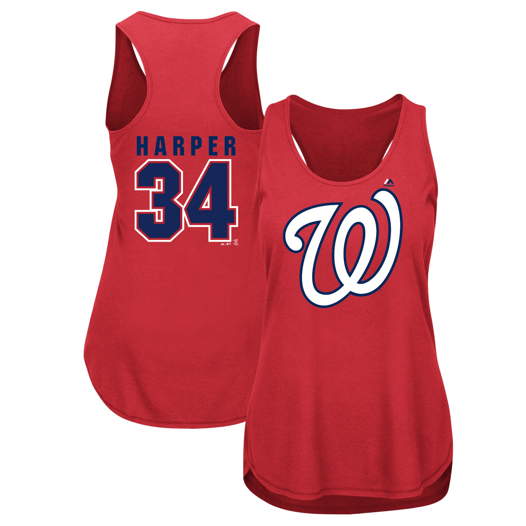 Bryce Harper Washington Nationals Majestic Women's Men of October Player Tank Top - Red
