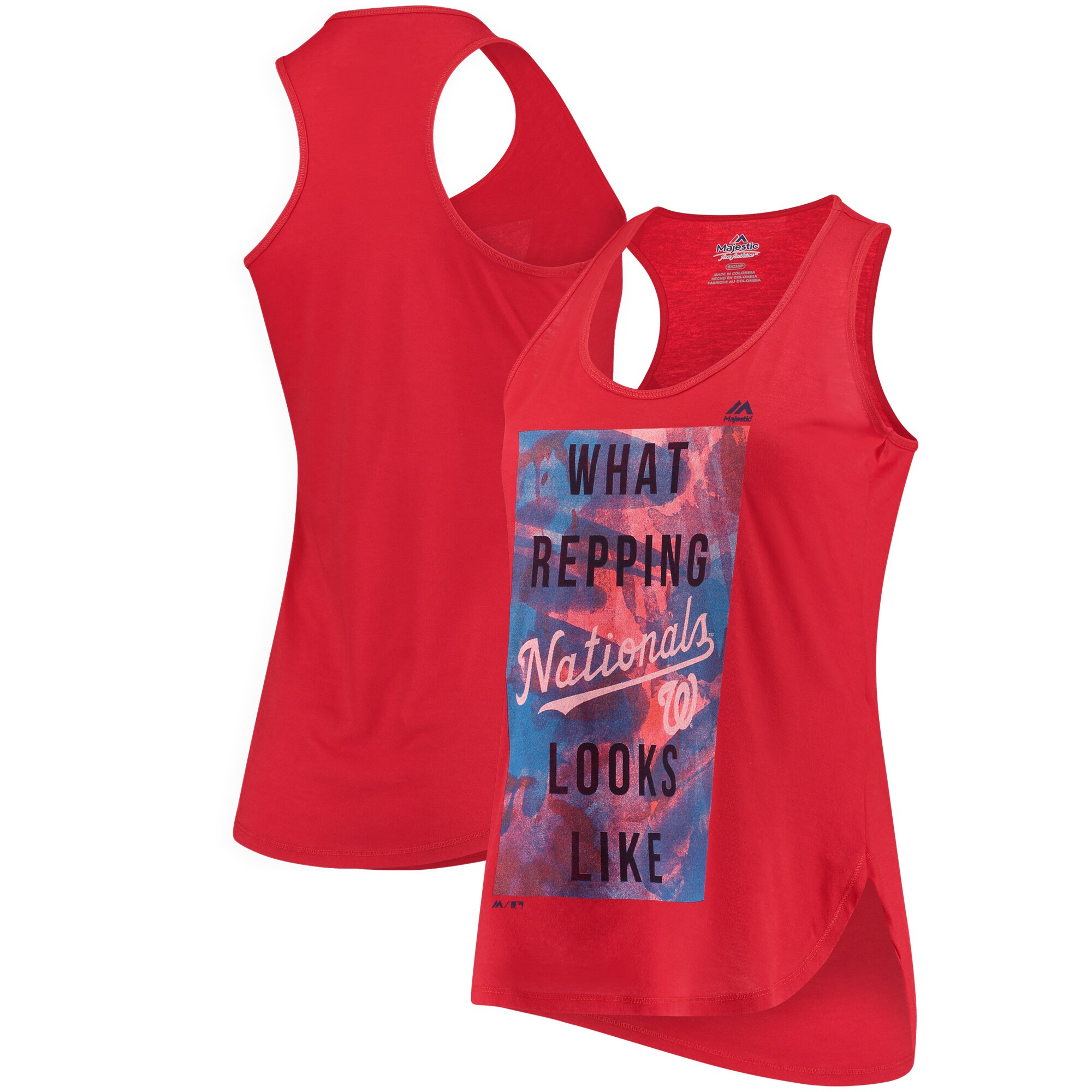 Washington Nationals Majestic Women's All Day Long Tank Top - Red