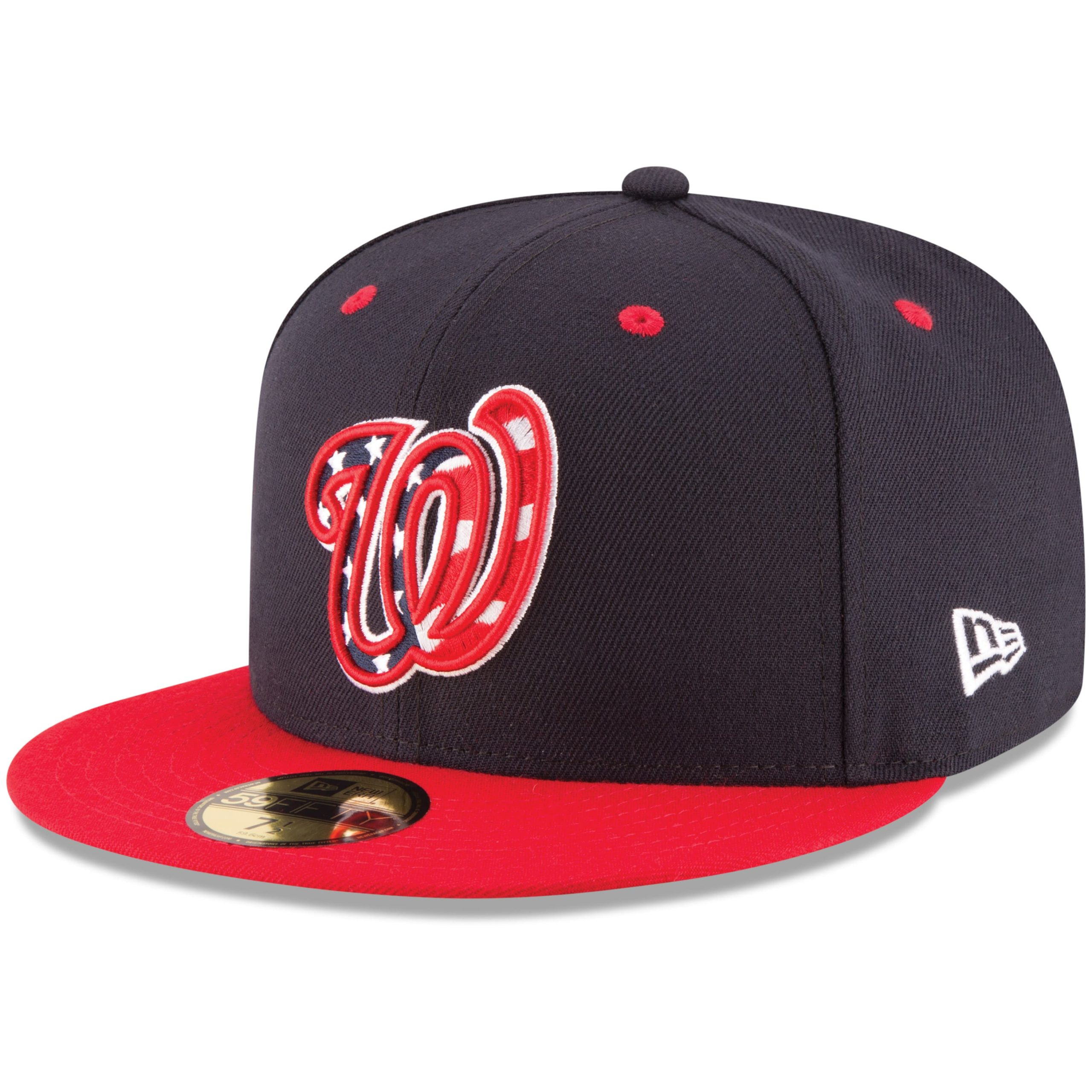 Washington Nationals New Era Alternate Authentic Collection On-Field 59FIFTY Fitted Hat - Navy/Red