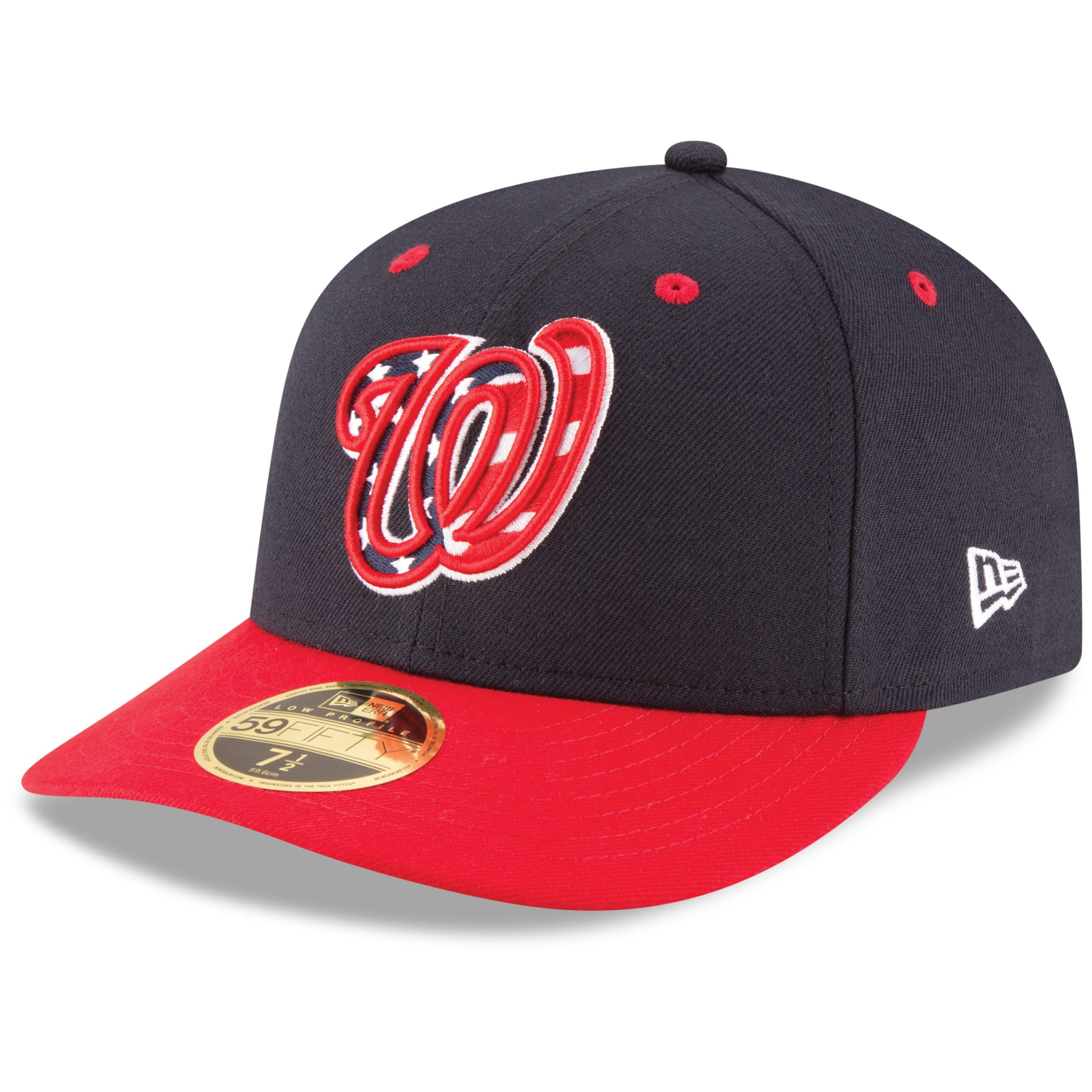 Washington Nationals New Era Alternate Authentic Collection On-Field Low Profile 59FIFTY Fitted Hat - Navy/Red