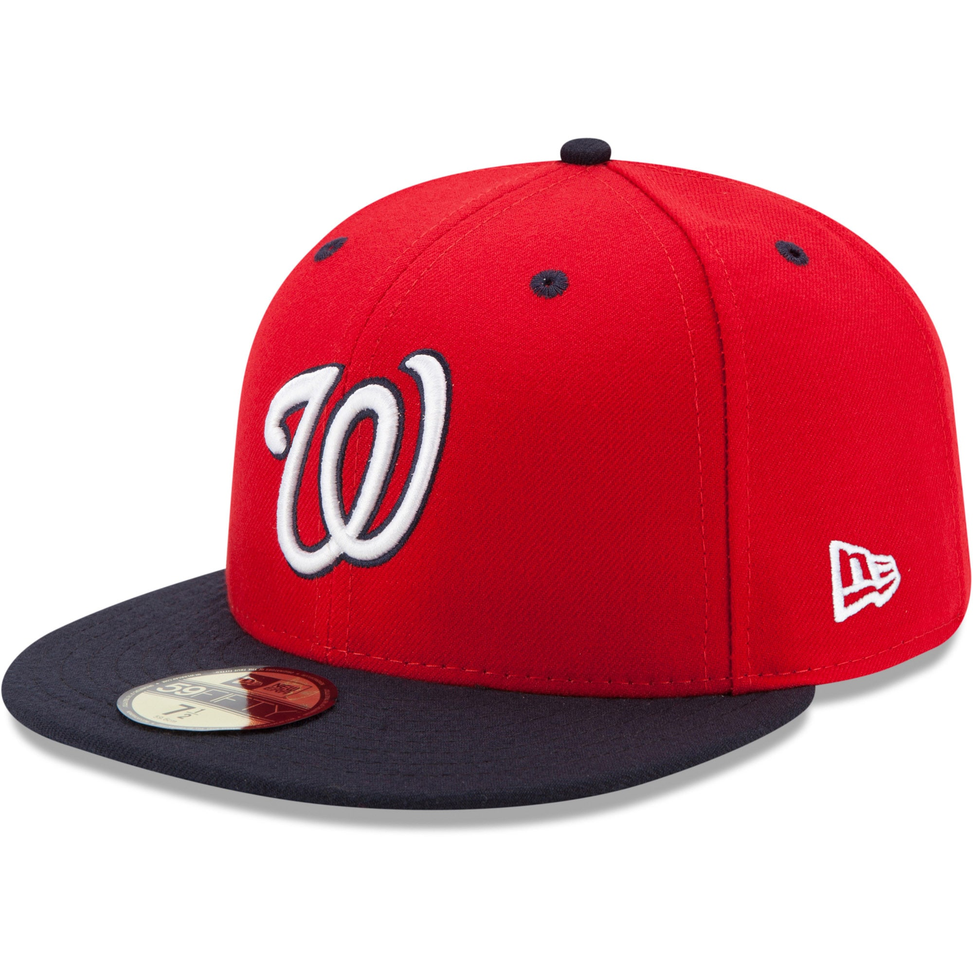 Washington Nationals New Era Alternate 2 Authentic Collection On-Field 59FIFTY Fitted Hat - Red/Navy