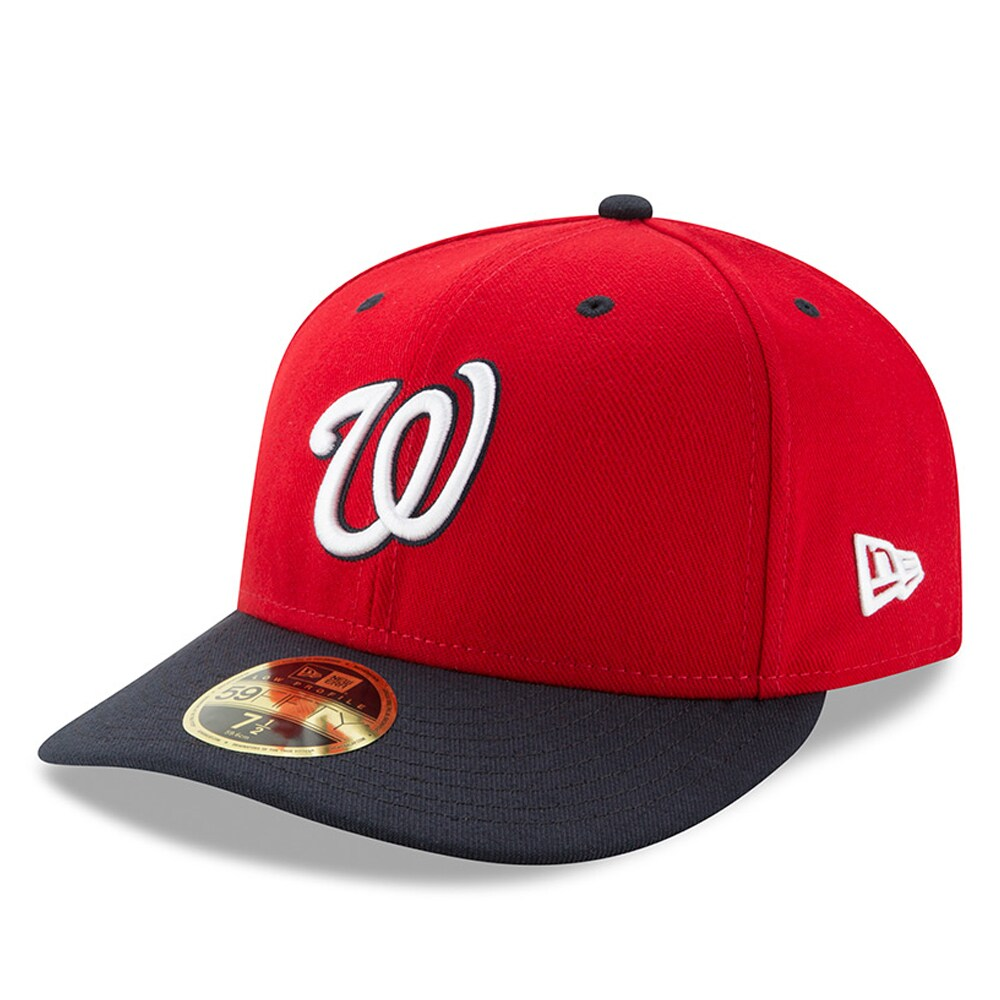 Washington Nationals New Era Alternate 2 Authentic Collection On-Field Low Profile 59FIFTY Fitted Hat - Red/Navy