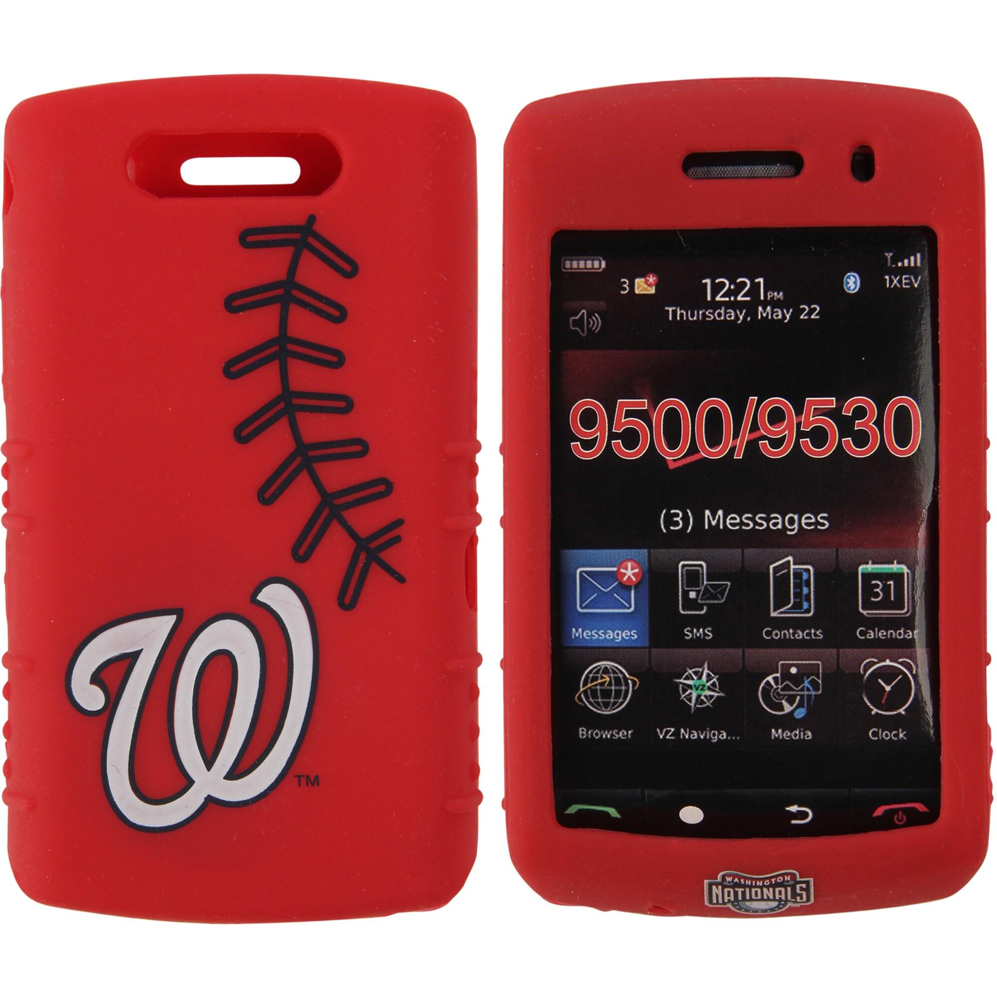 Washington Nationals BlackBerry Storm Cashmere Silicone Case - Red