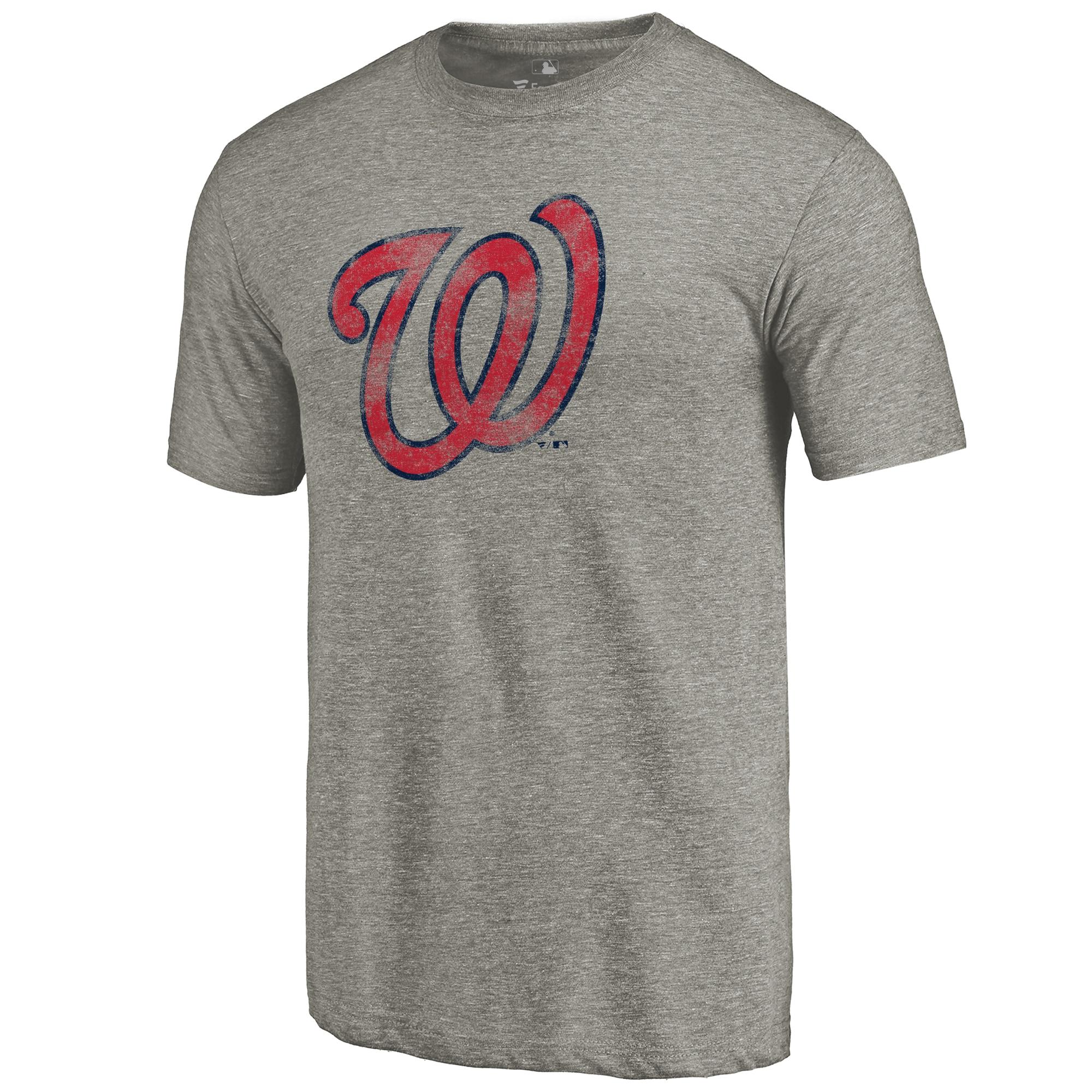 Washington Nationals Distressed Team Tri-Blend T-Shirt - Ash