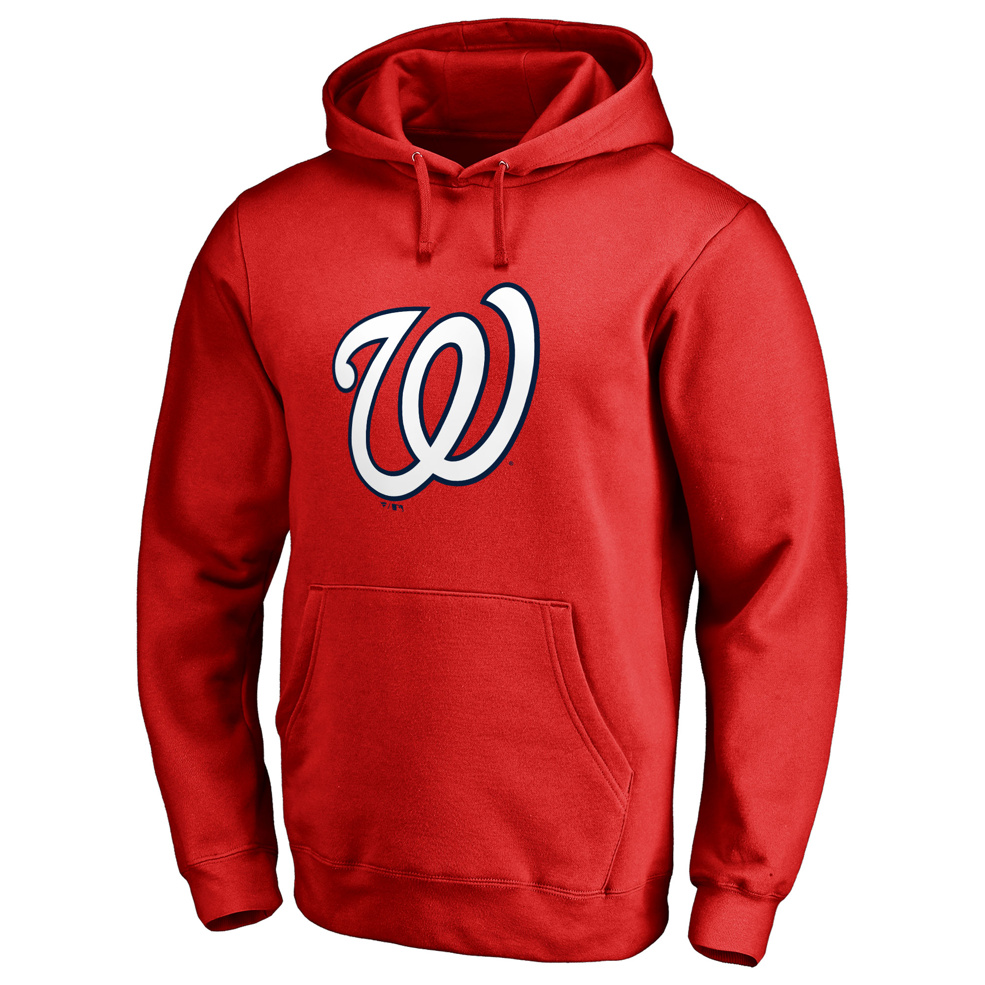 Washington Nationals Team Color Primary Logo Pullover Hoodie - Red