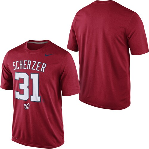 Max Scherzer Washington Nationals Nike Legend Speed Player T-Shirt - Red