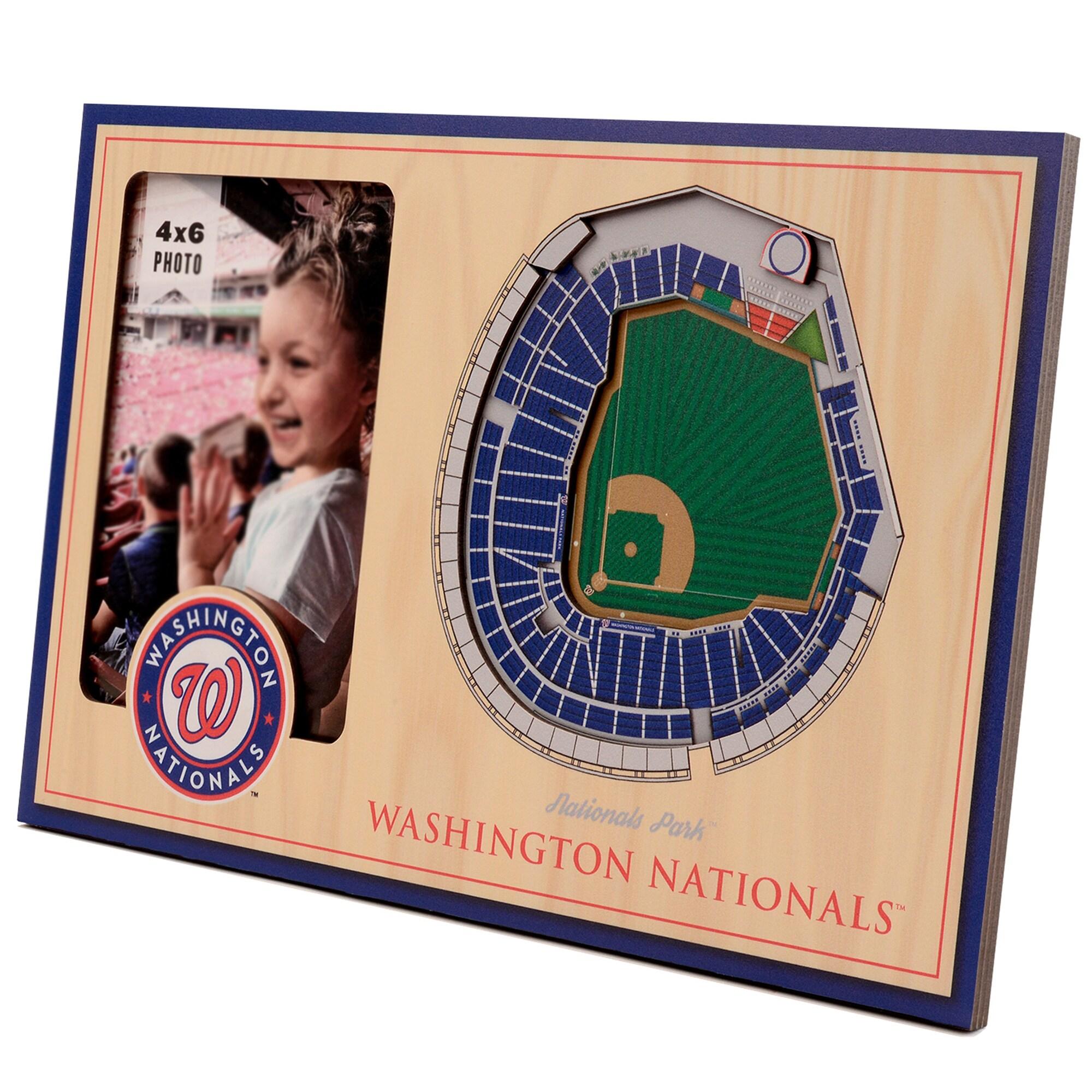 Washington Nationals 3D StadiumViews Picture Frame - Brown