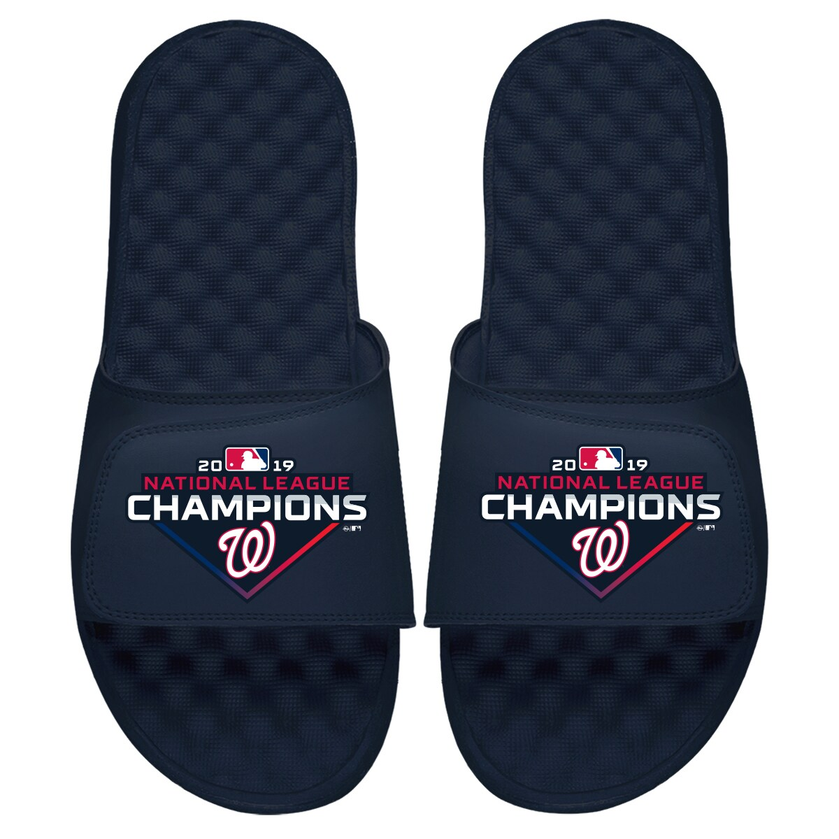 Washington Nationals ISlide Youth 2019 National League Champions Slide Sandals - Navy