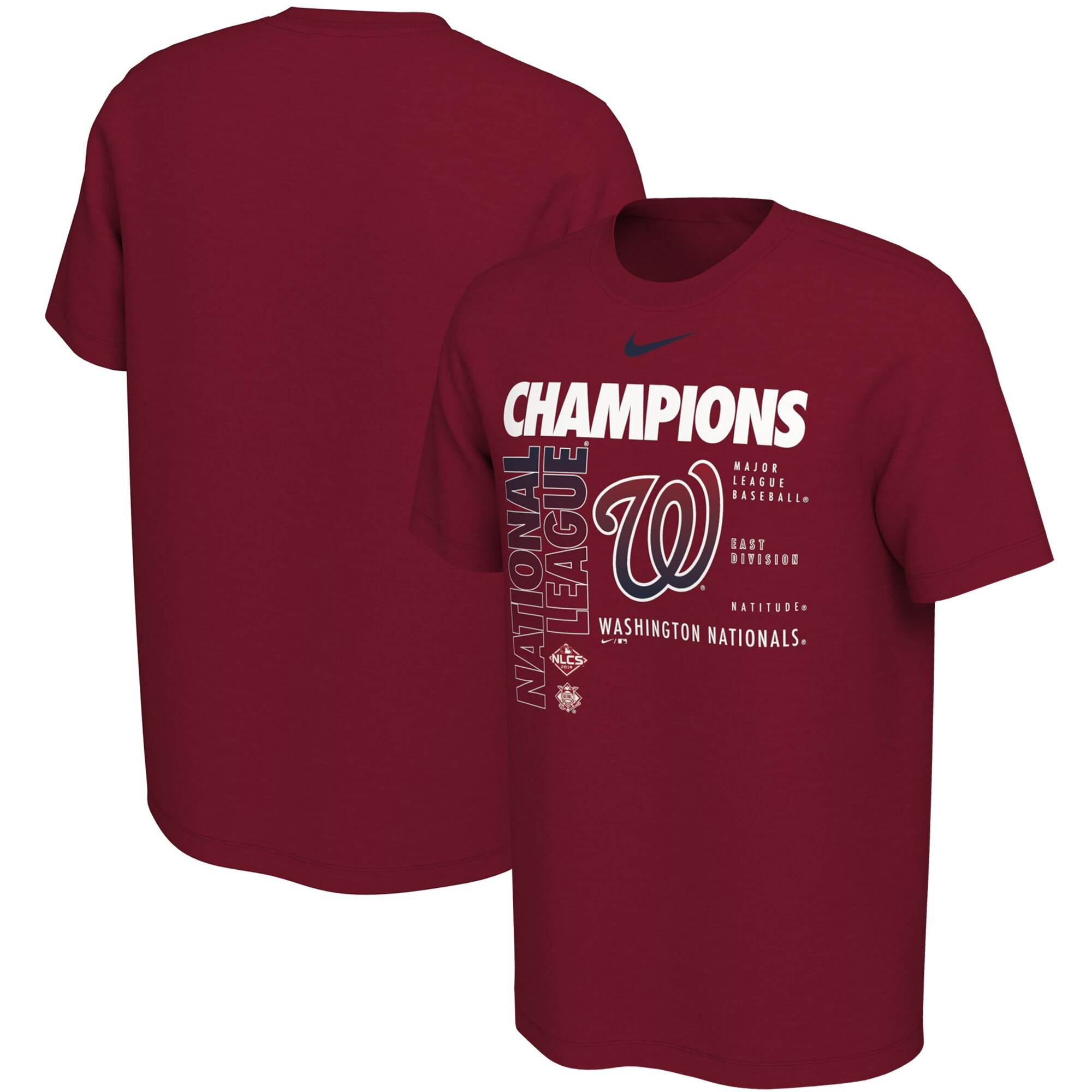 Washington Nationals Nike 2019 National League Champions T-Shirt - Red