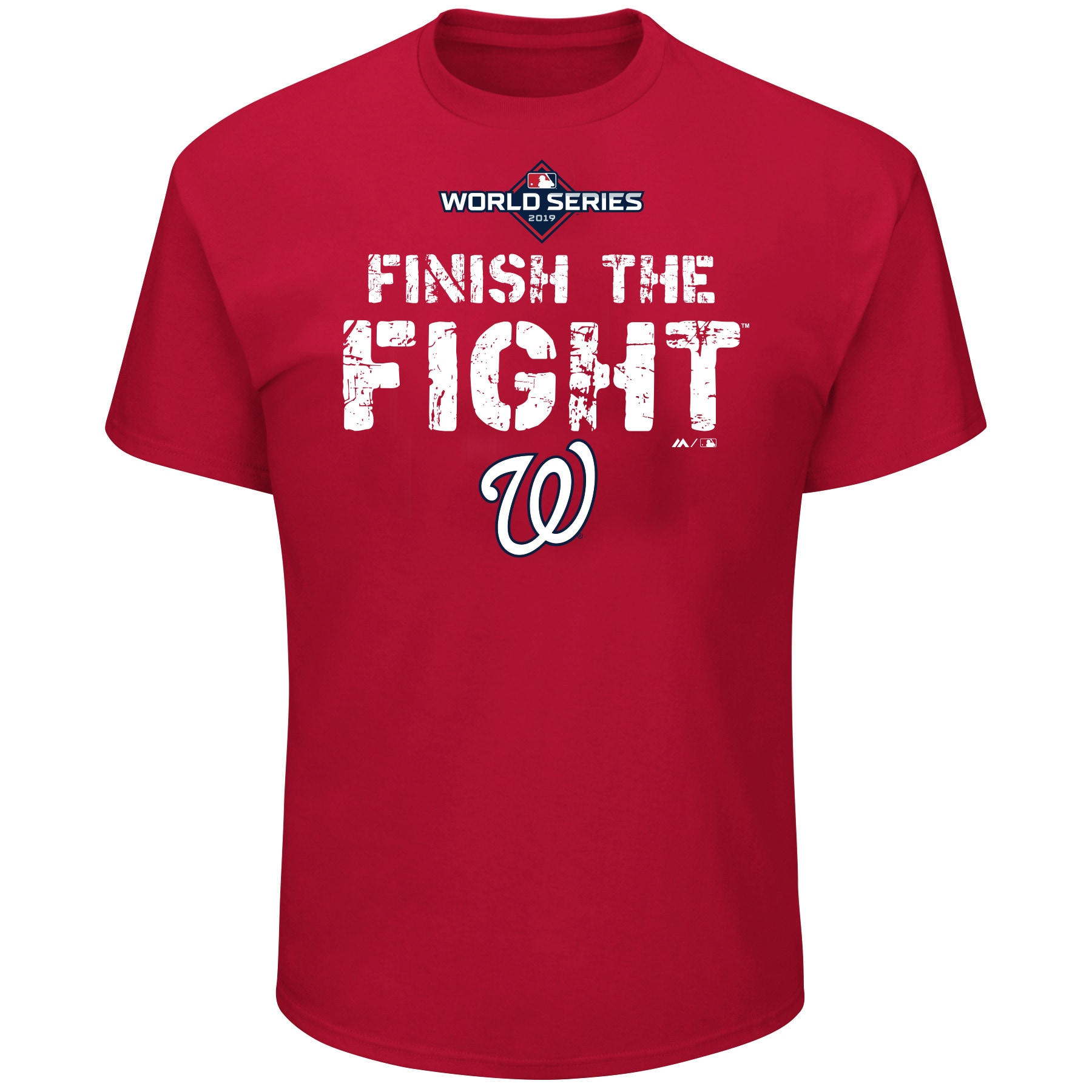 Washington Nationals Majestic 2019 World Series Bound Big & Tall Authentic Collection T-Shirt - Red
