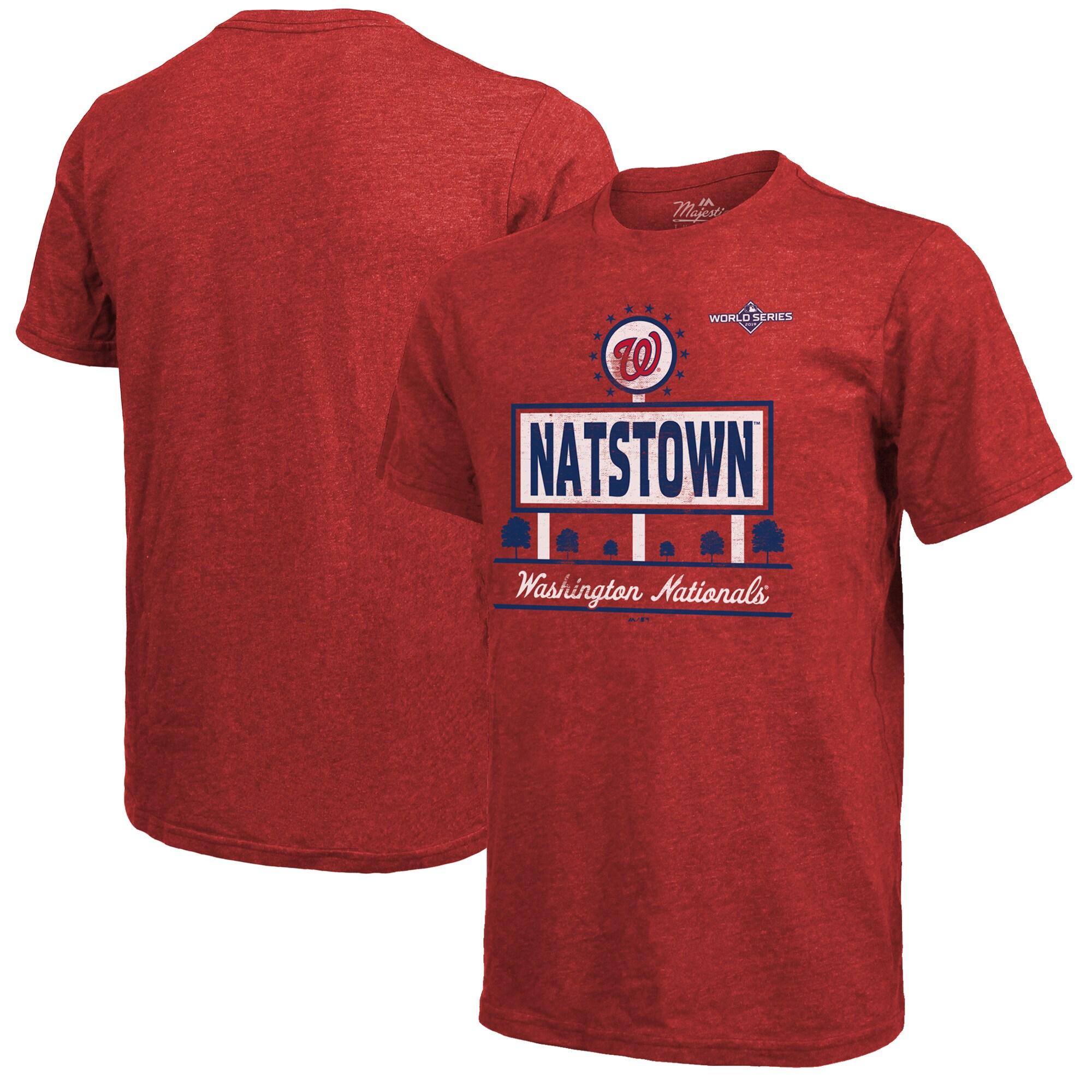 Washington Nationals Majestic Threads 2019 World Series Bound Hometown T-Shirt - Red