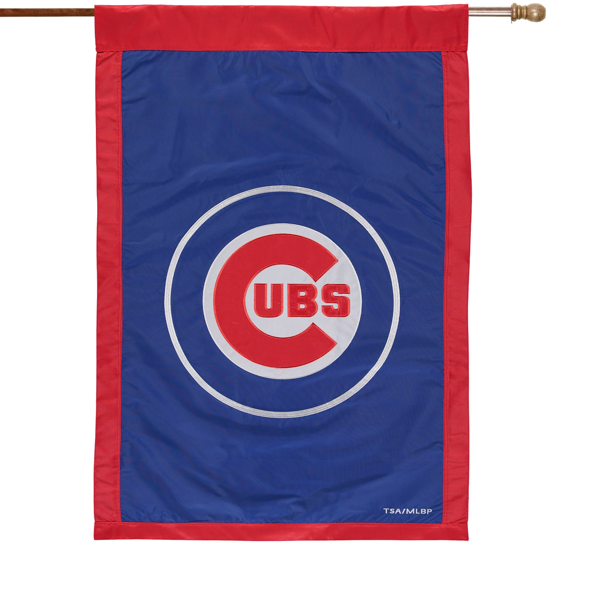 """Chicago Cubs 28"""" x 44"""" Applique Double-Sided House Flag"""