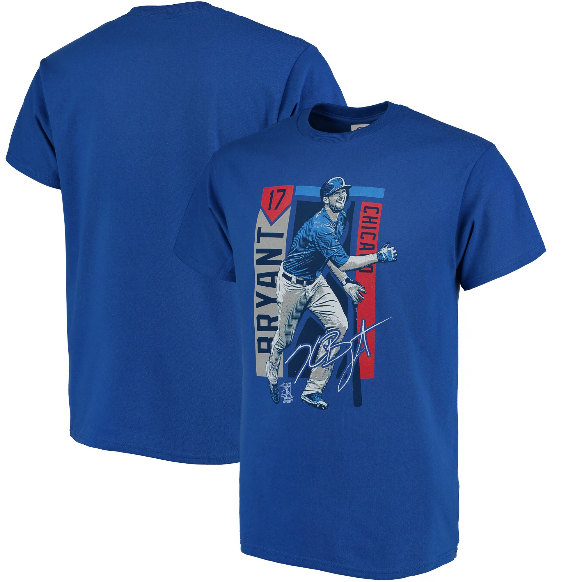 Kris Bryant Chicago Cubs Color Block Series Player Graphic T-Shirt - Royal