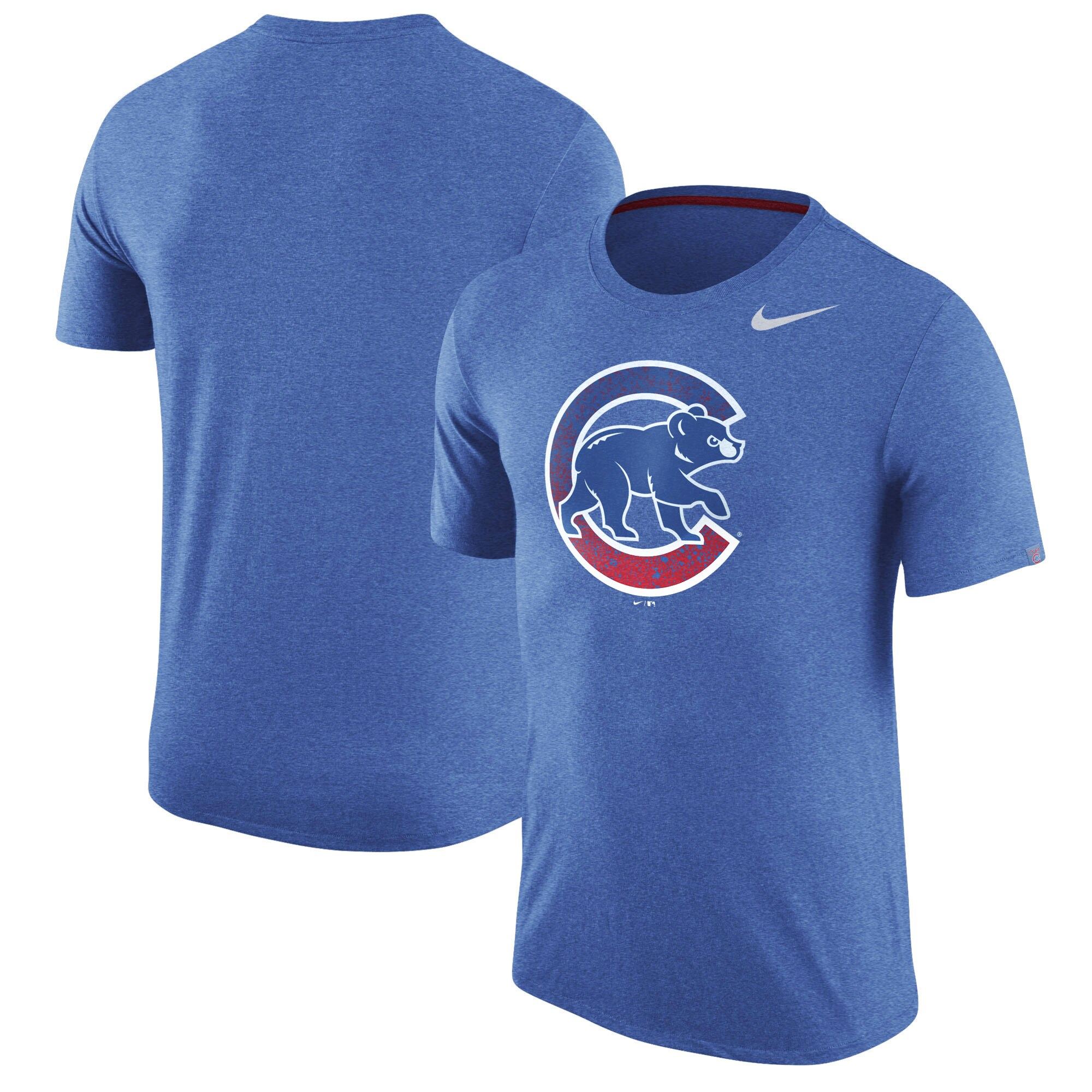 Chicago Cubs Nike Tri-Blend T-Shirt - Heathered Royal