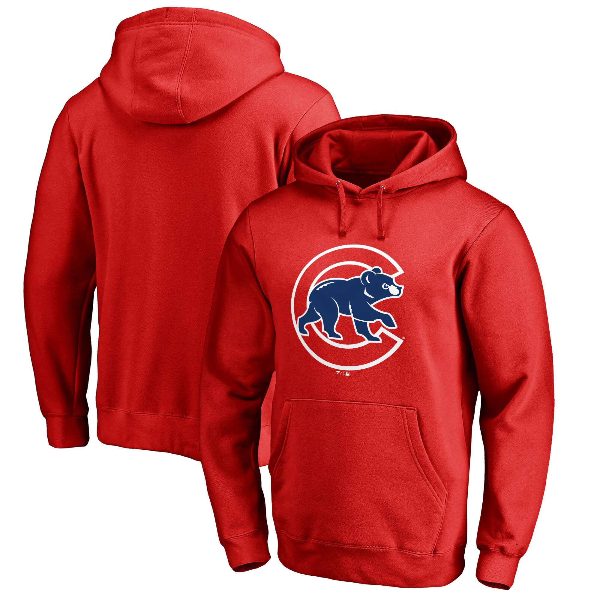 Chicago Cubs Fanatics Branded Primary Logo Pullover Hoodie - Red
