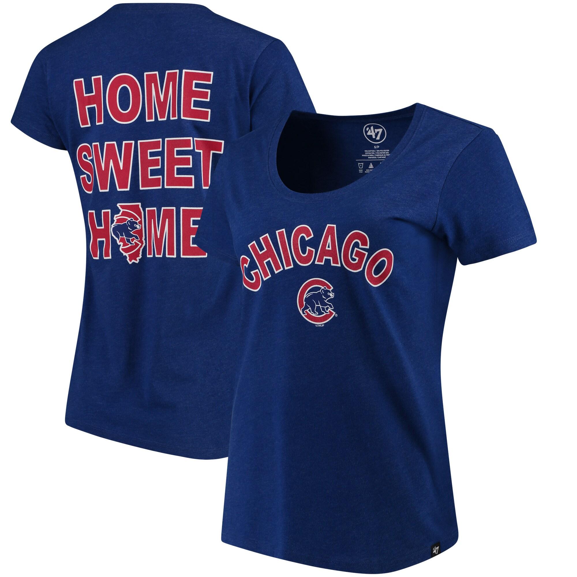 Chicago Cubs '47 Women's Club Scoop Neck T-Shirt - Royal