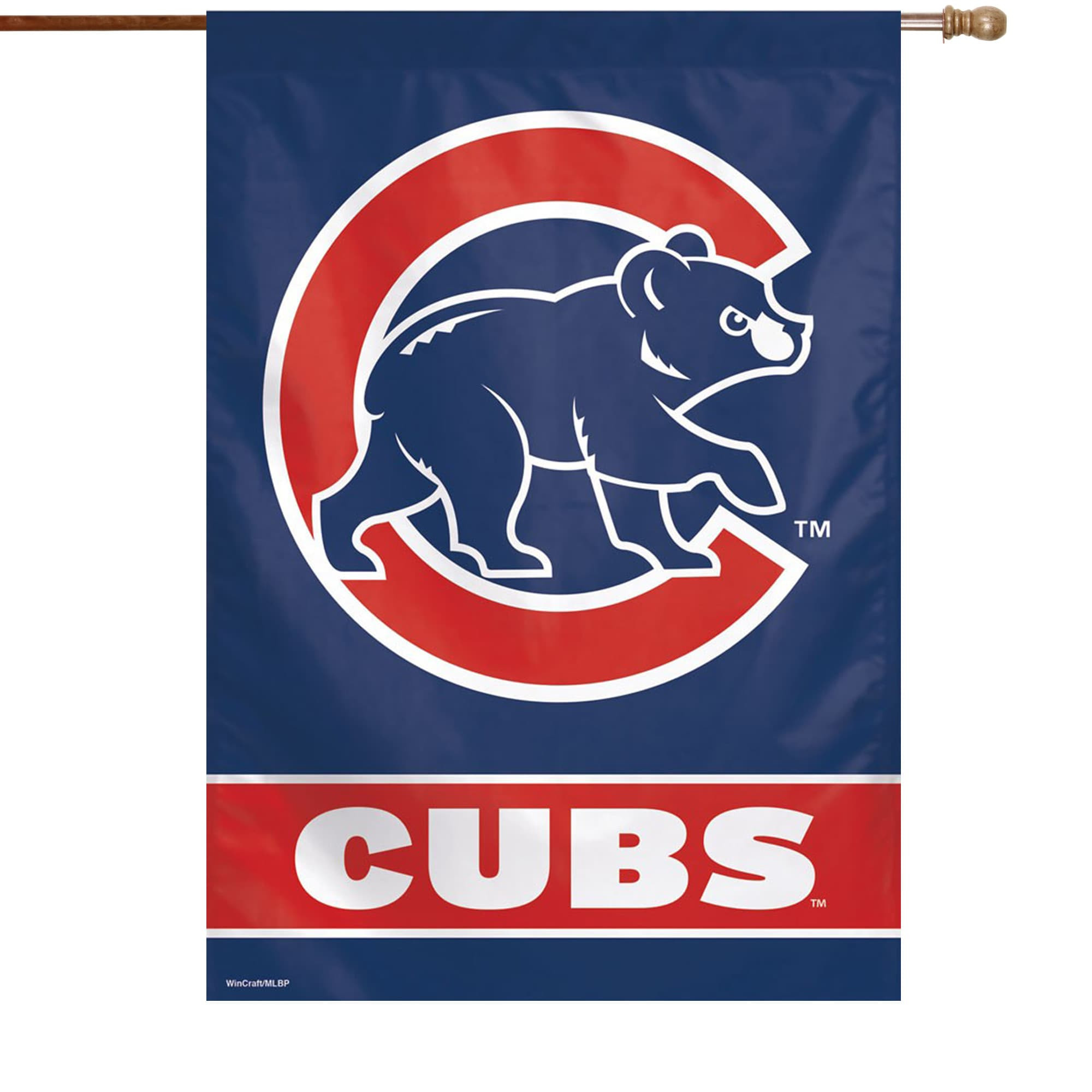 """Chicago Cubs WinCraft 28"""" x 40"""" C Bear Logo Single-Sided Vertical Banner"""
