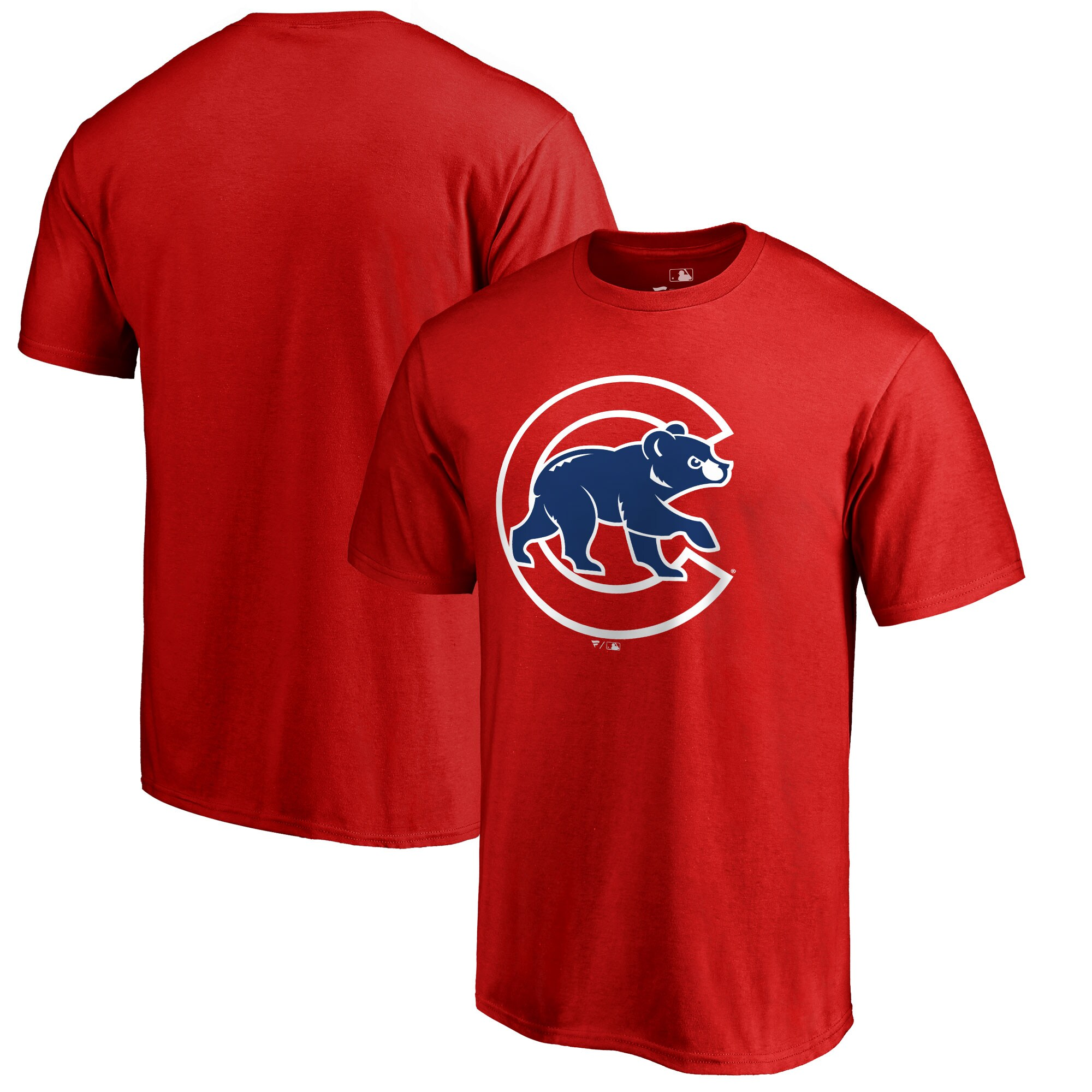 Chicago Cubs Big & Tall Primary Team Logo T-Shirt - Red