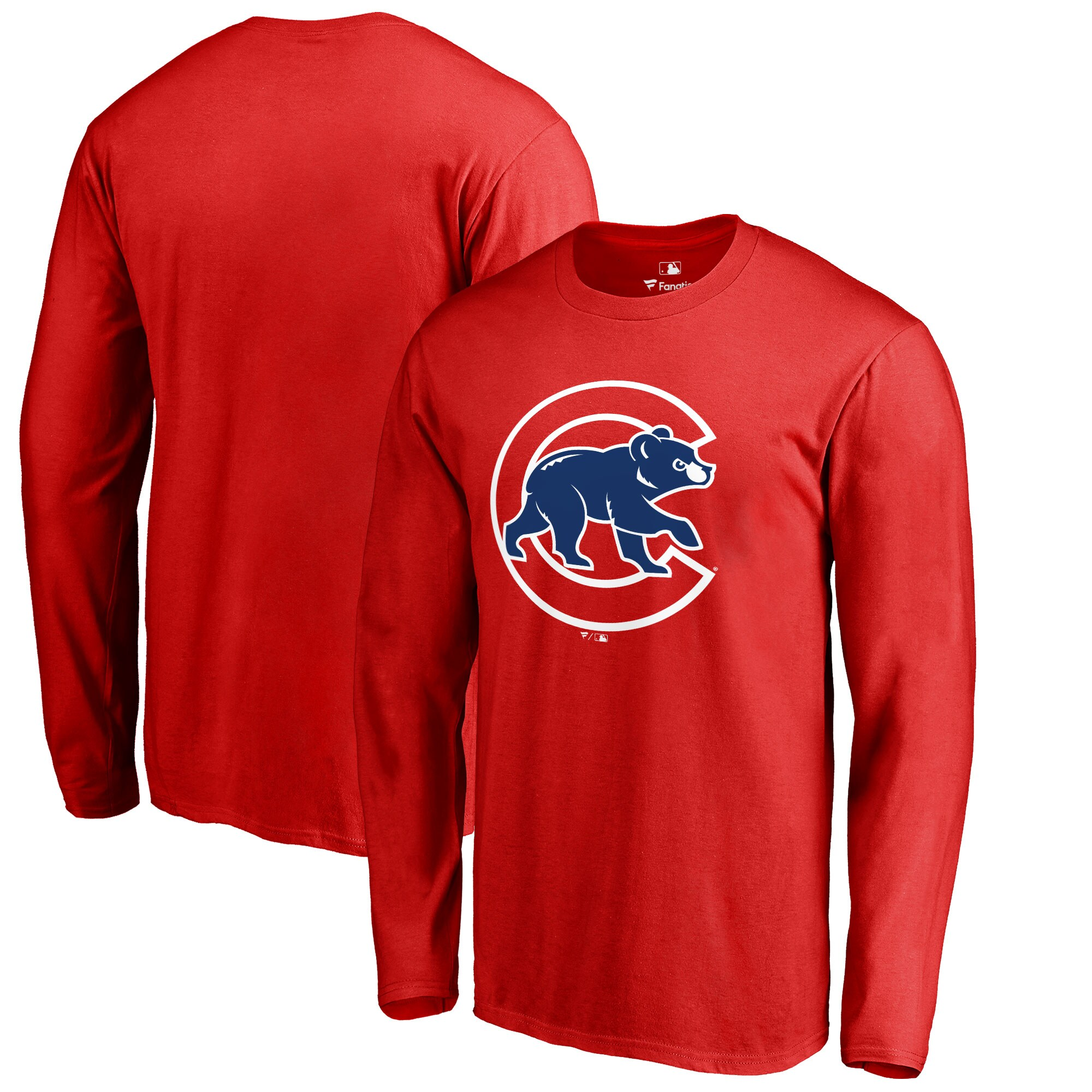 Chicago Cubs Big & Tall Primary Team Logo Long Sleeve T-Shirt - Red
