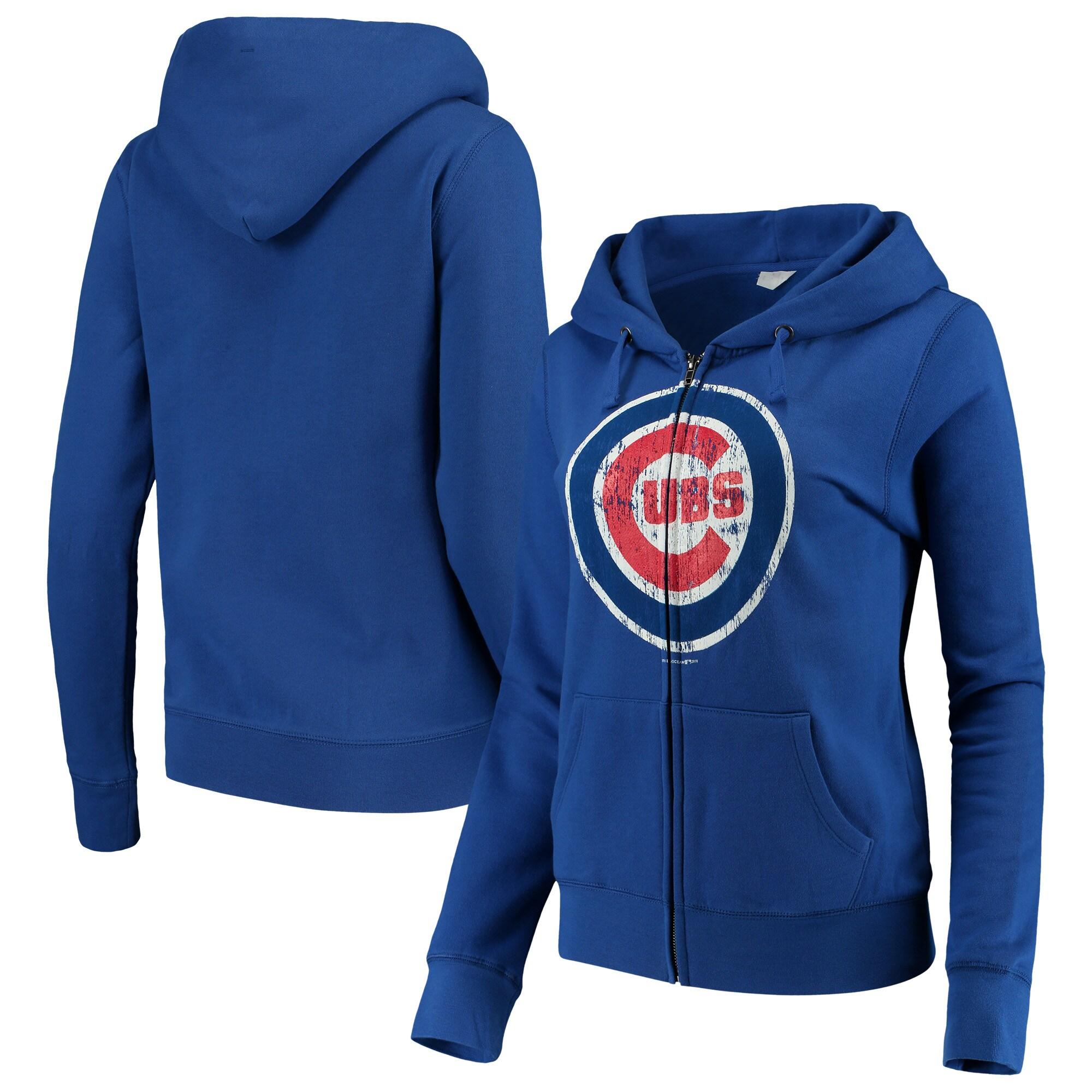Chicago Cubs 5th & Ocean by New Era Women's Core Fleece Hoodie - Royal Blue