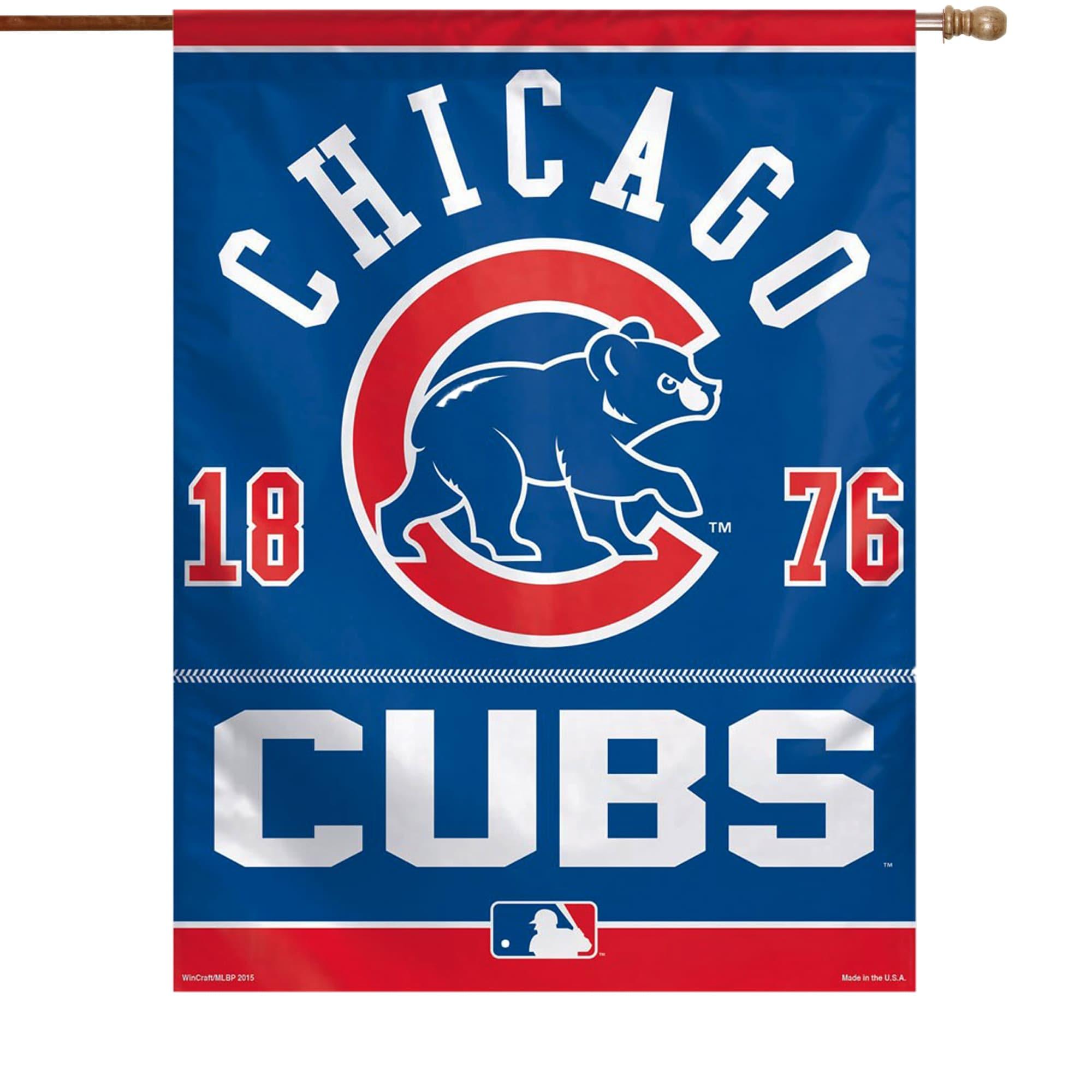 "Chicago Cubs WinCraft 27"" x 37"" Veritical Banner Flag"