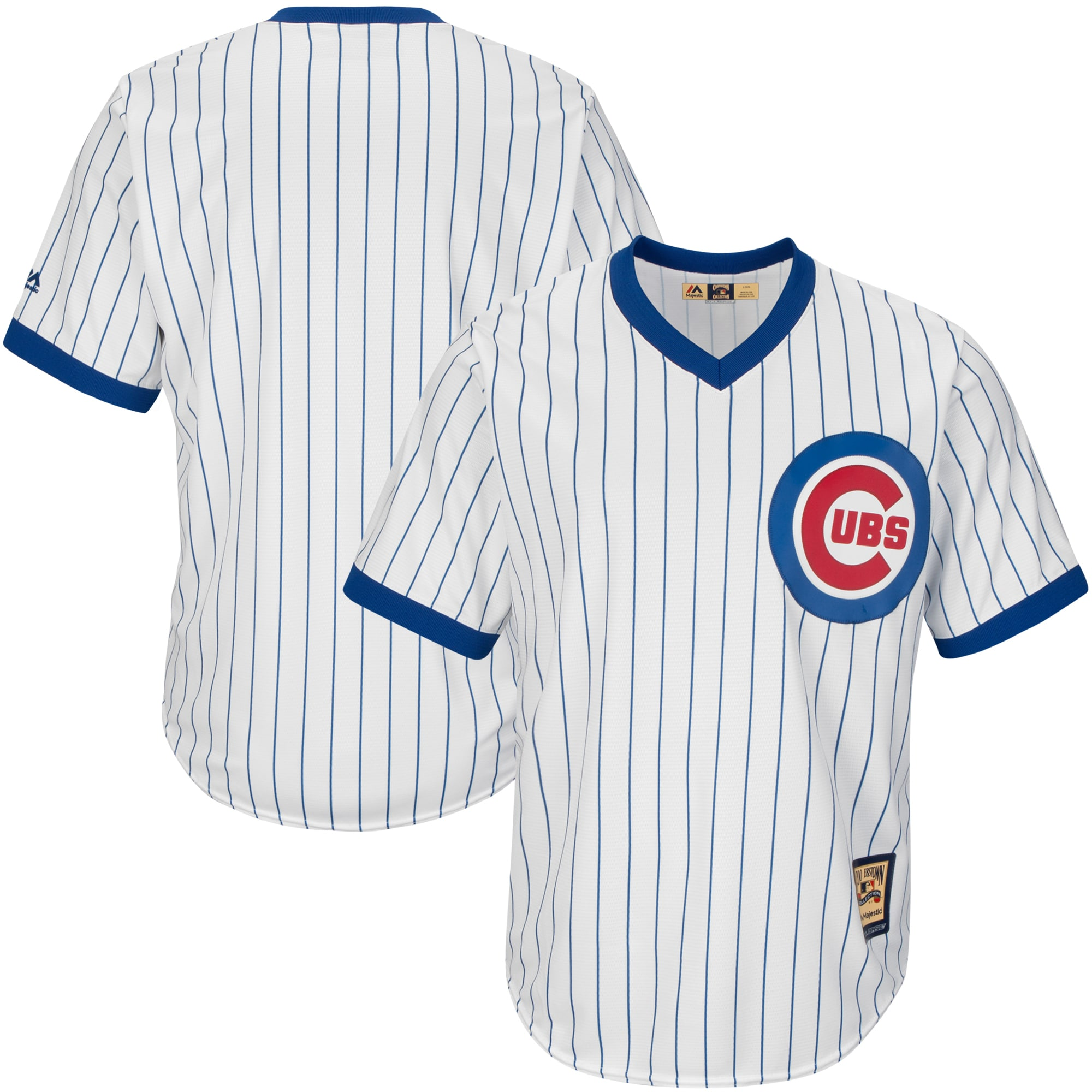 Chicago Cubs Majestic Big & Tall Cooperstown Cool Base Jersey - White