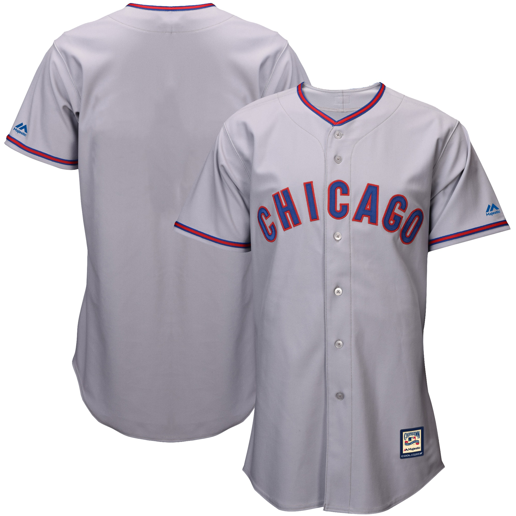 Chicago Cubs Majestic Cooperstown Collection Replica Cool Base Jersey - Gray
