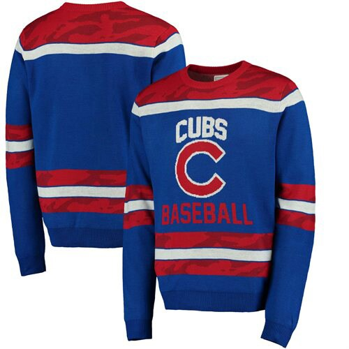 Chicago Cubs Camouflage Team Sweater - Royal