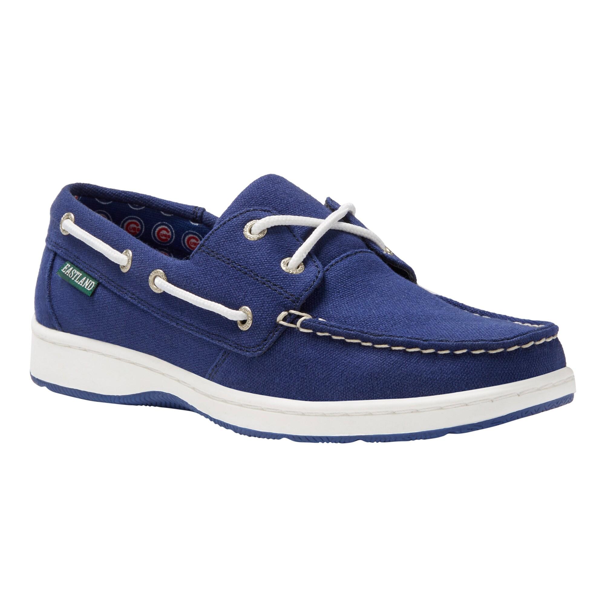 Chicago Cubs Eastland Women's Solstice Boat Shoes - Blue