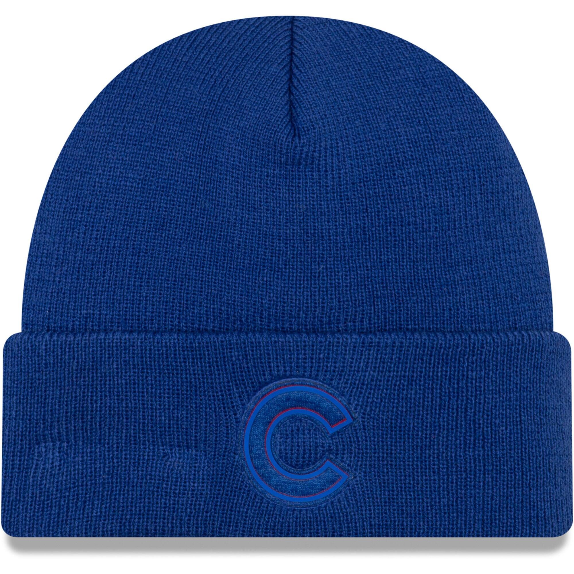 Chicago Cubs New Era Vivid Cuffed Knit Hat - Royal