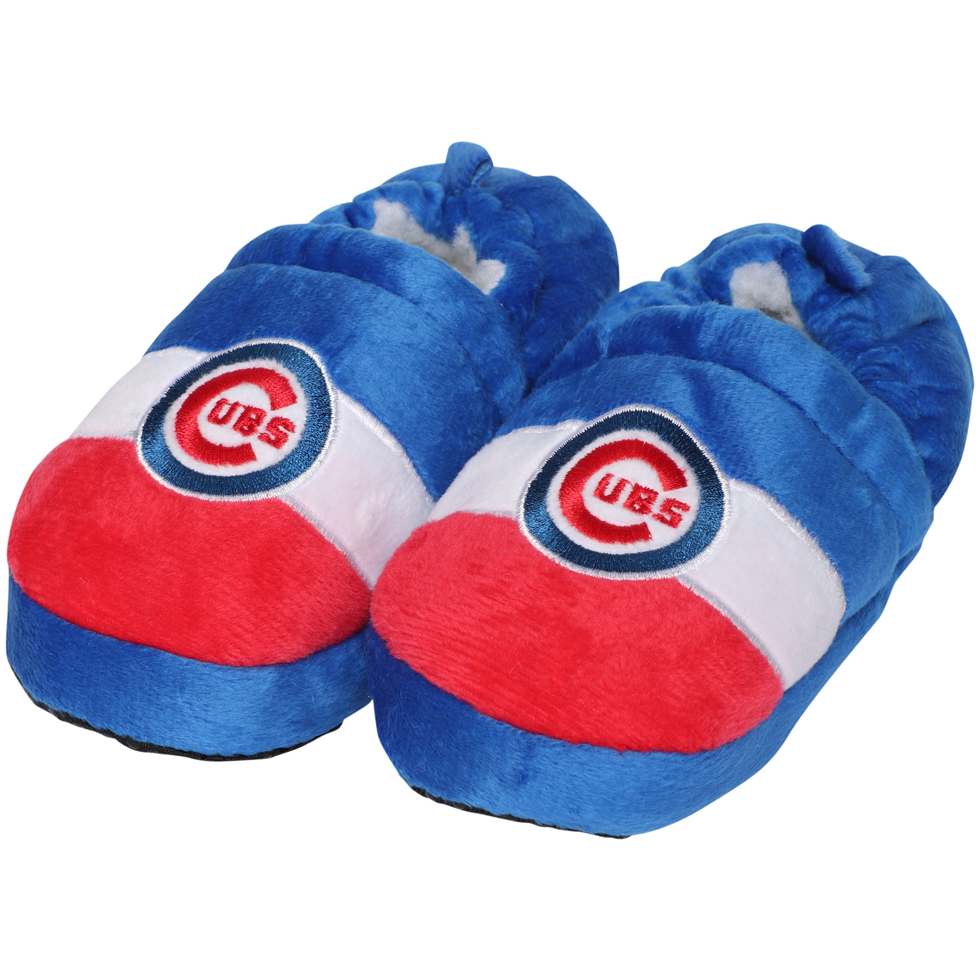 Chicago Cubs Toddler Color Block Close Back Slippers