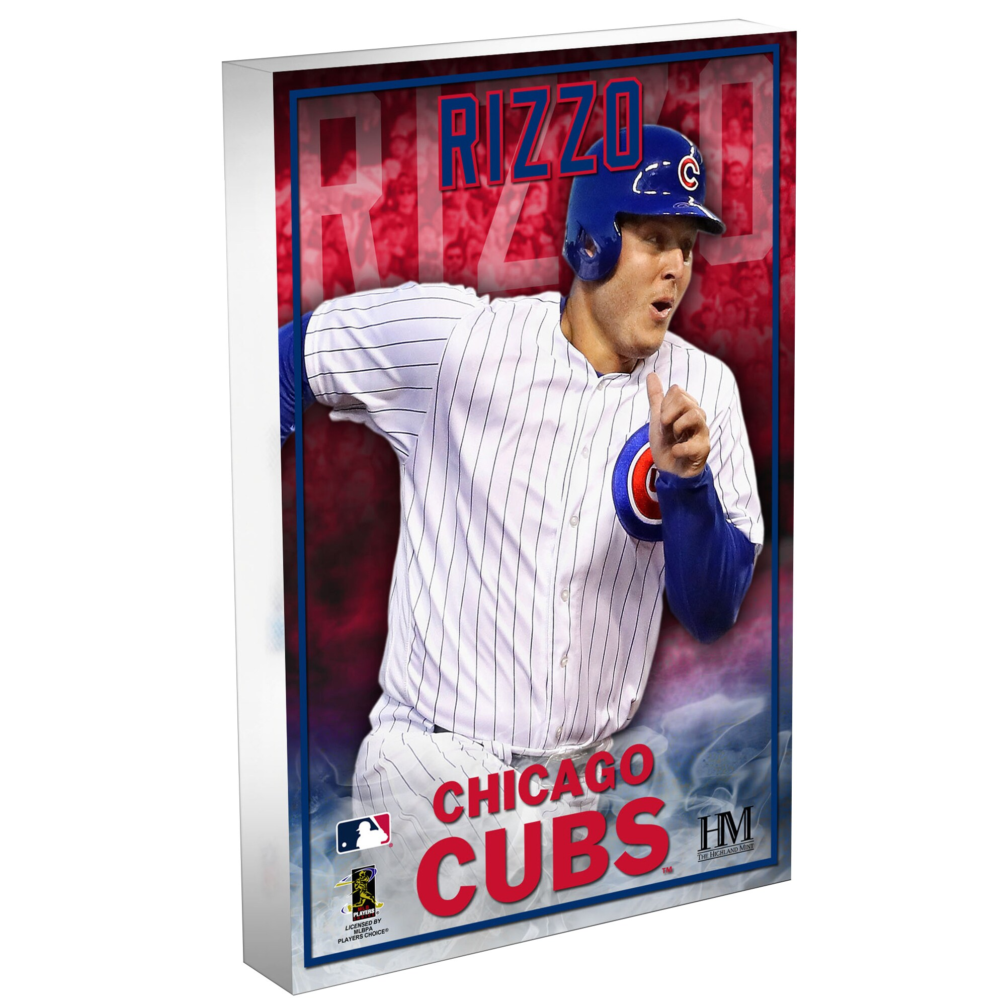 Anthony Rizzo Chicago Cubs Highland Mint 3D Acrylic Blockart
