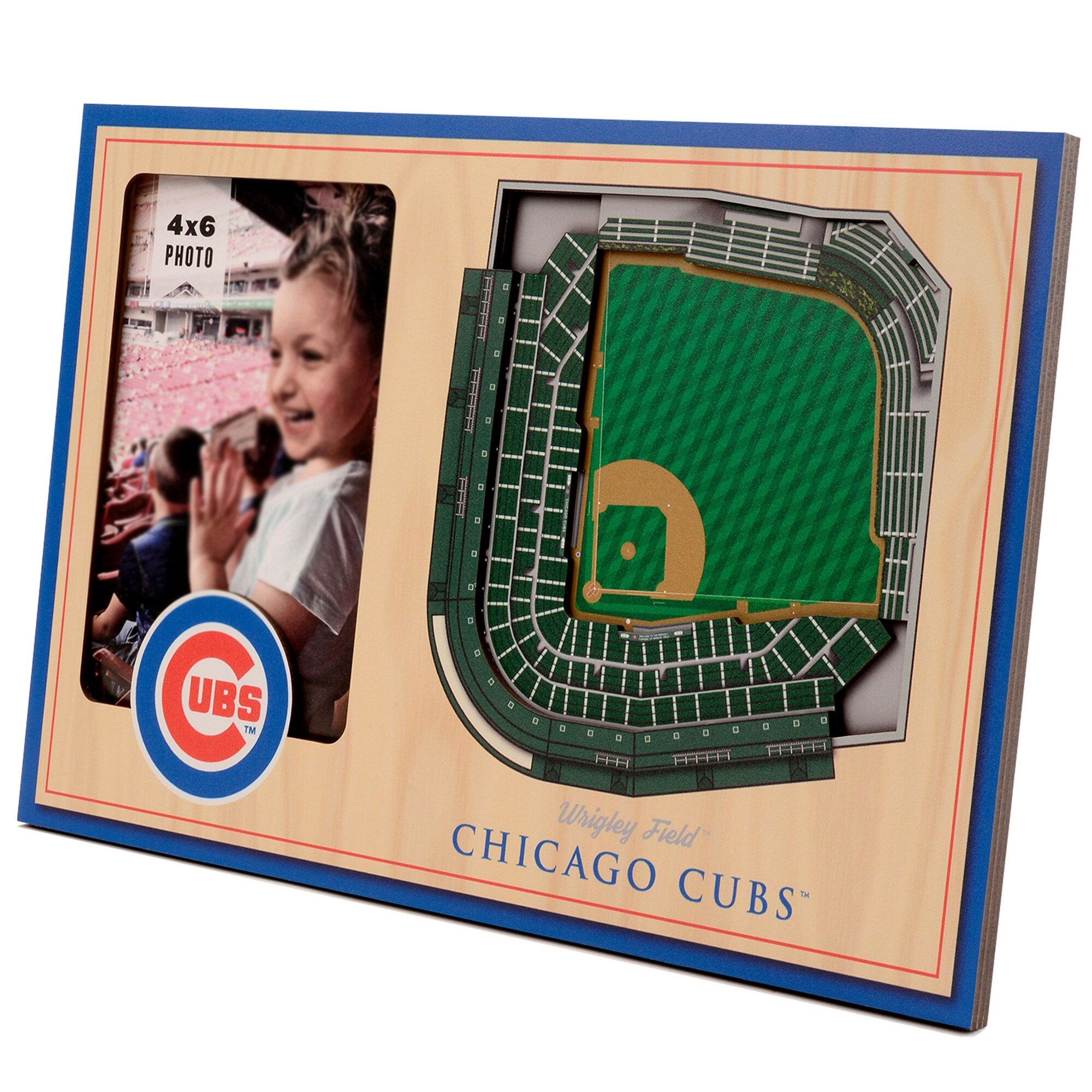 Chicago Cubs 3D StadiumViews Picture Frame - Brown