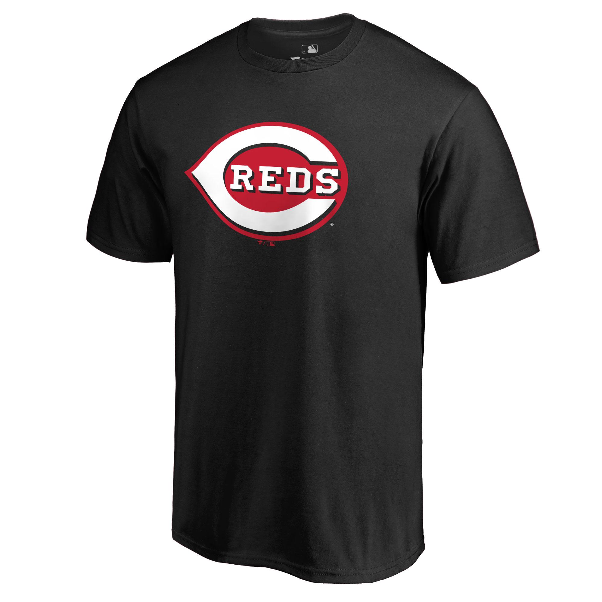 Cincinnati Reds Secondary Color Primary Logo T-Shirt - Black