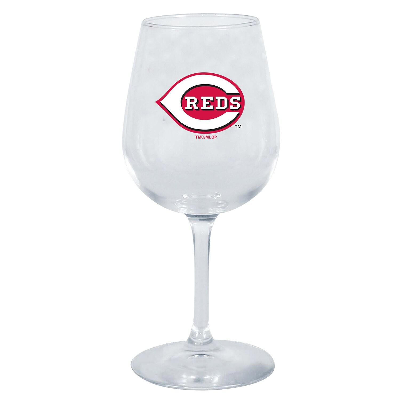 Cincinnati Reds 12oz. Stemmed Wine Glass