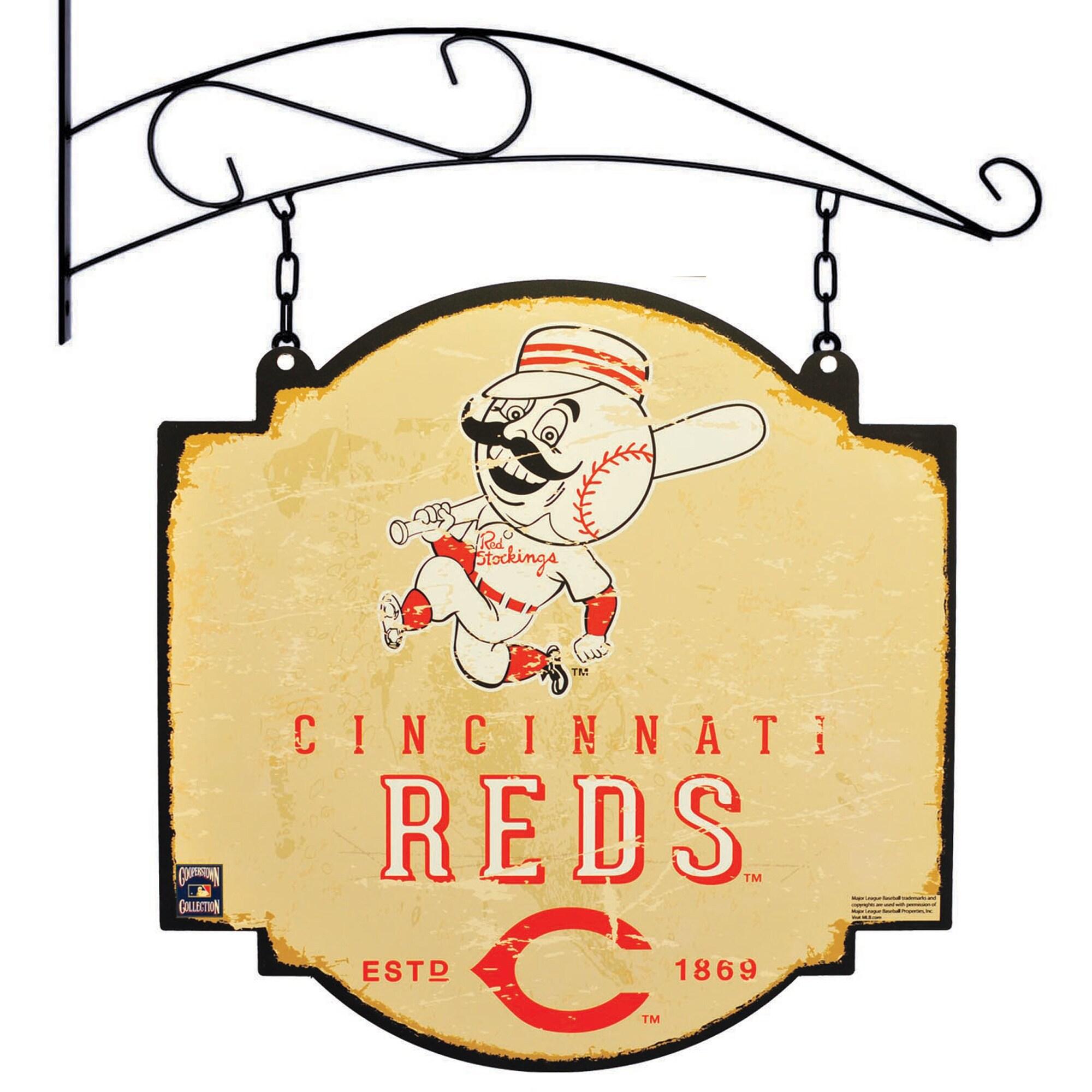"Cincinnati Reds 16"" x 16"" Tavern Sign - Cream"