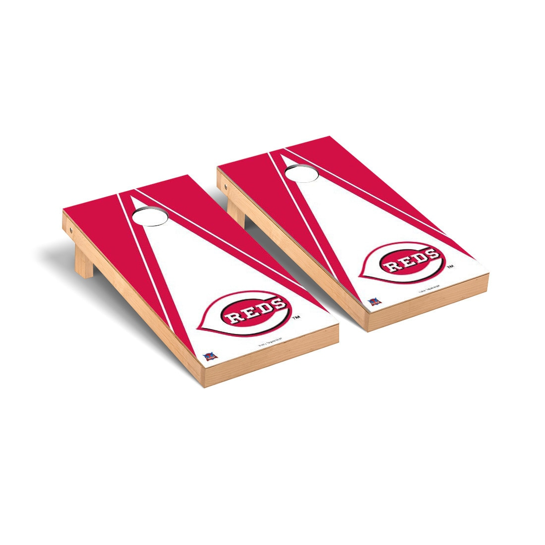 Cincinnati Reds 2' x 4' Triangle Cornhole Board Tailgate Toss Set