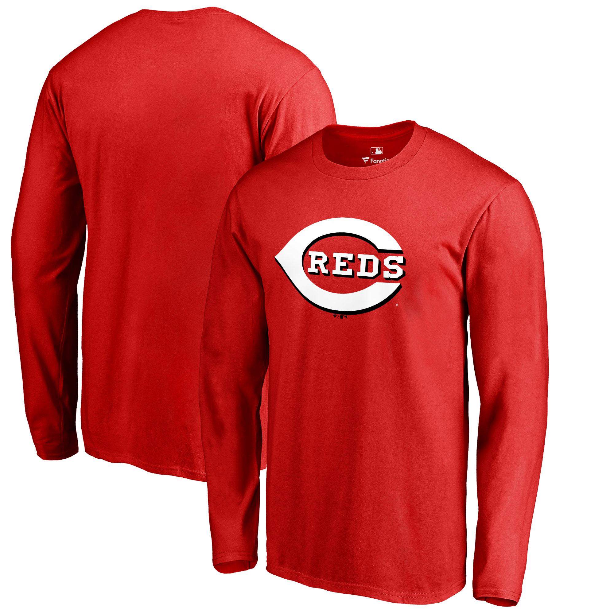 Cincinnati Reds Big & Tall Primary Team Logo Long Sleeve T-Shirt - Red