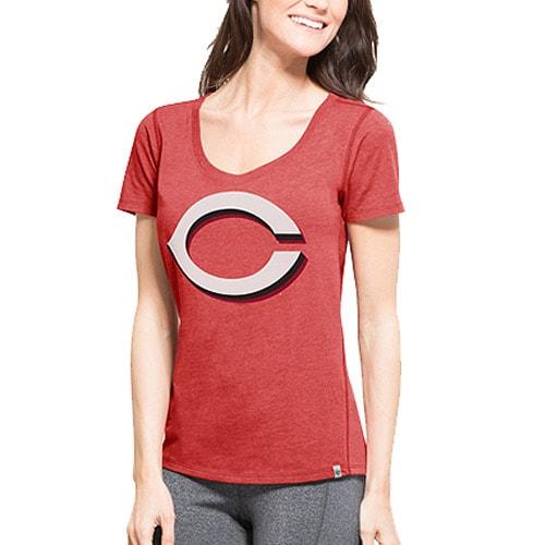 Cincinnati Reds '47 Women's Shift Tri-Blend T-Shirt - Red