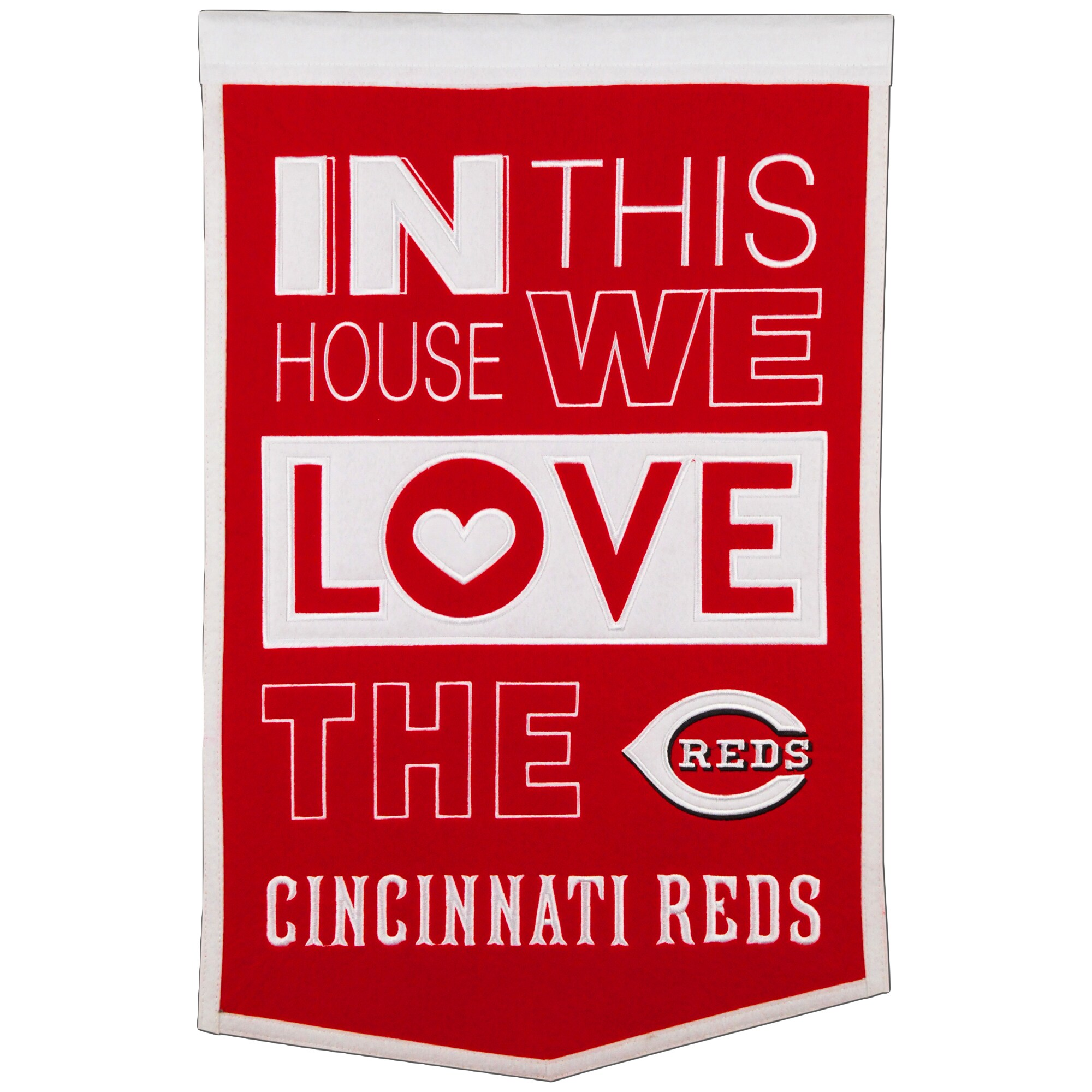 Cincinnati Reds 15'' x 24'' Home Banner - Red/White