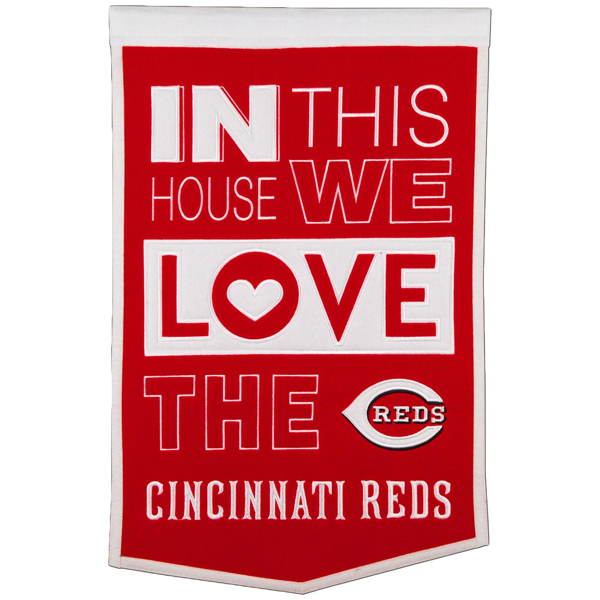 Cincinnati Reds 15'' x 24'' Home Banner - Red/White