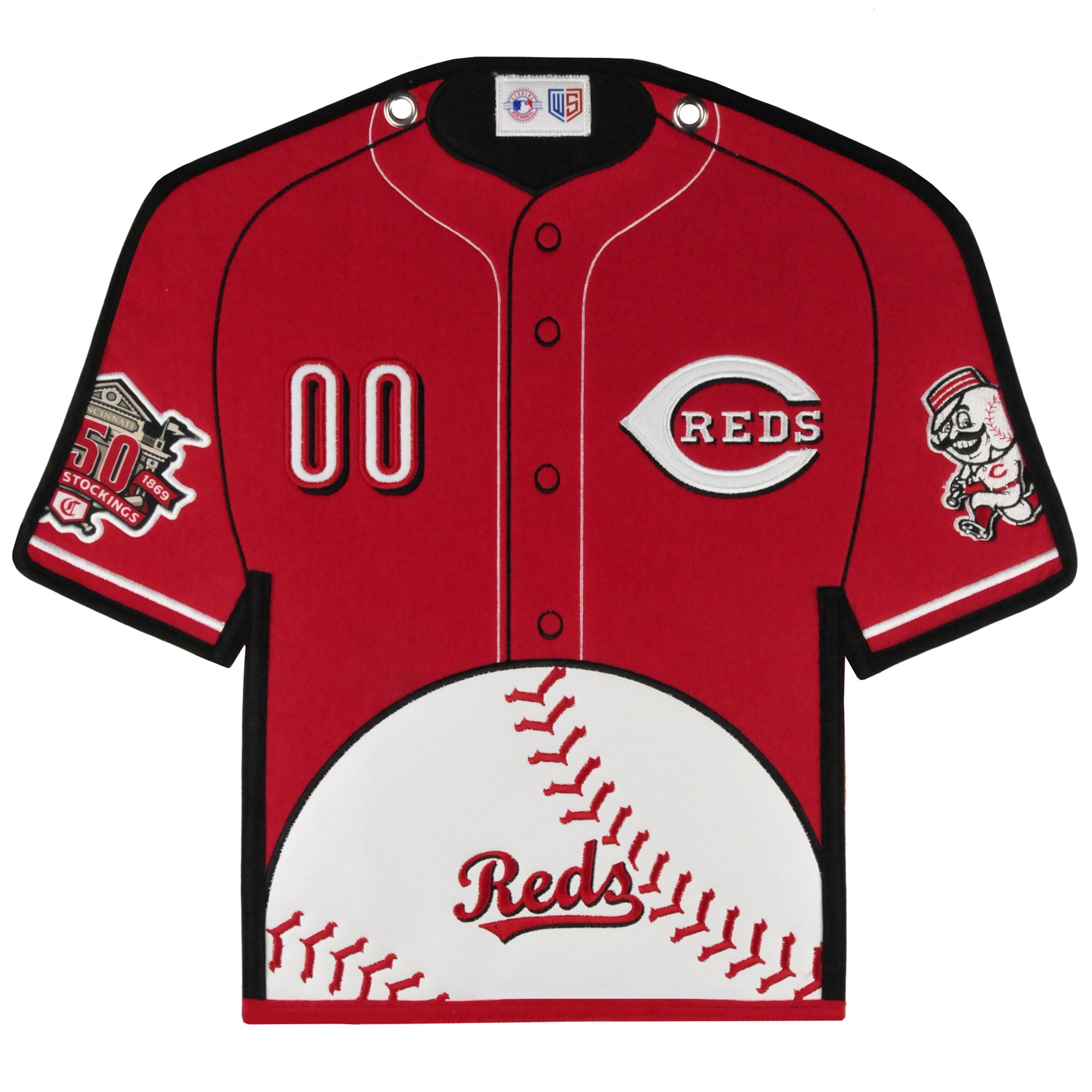 Cincinnati Reds 14'' x 22'' Jersey Traditions Banner - Red/White